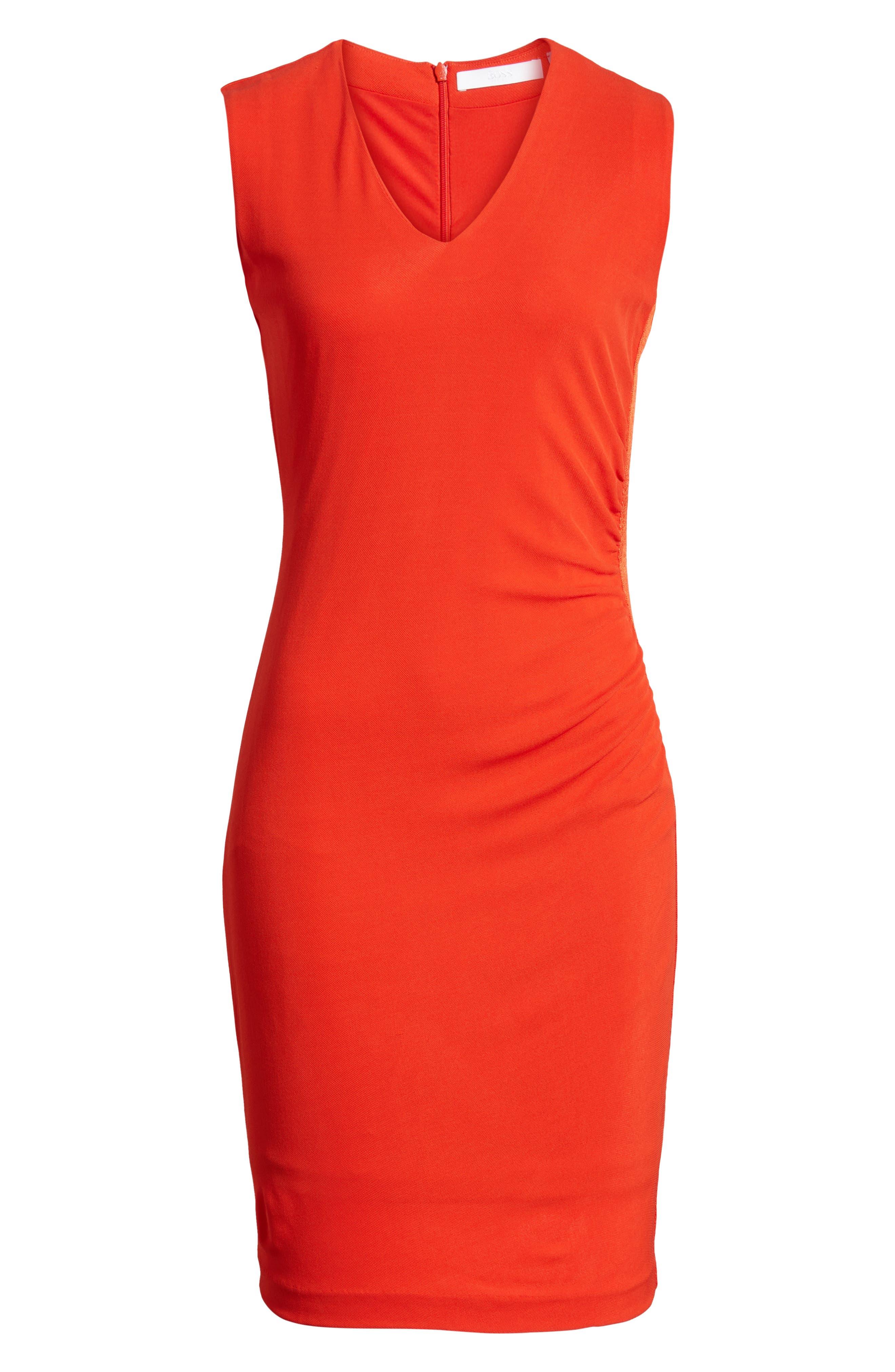 Erela Ruched Sheath Dress,                             Alternate thumbnail 7, color,                             824