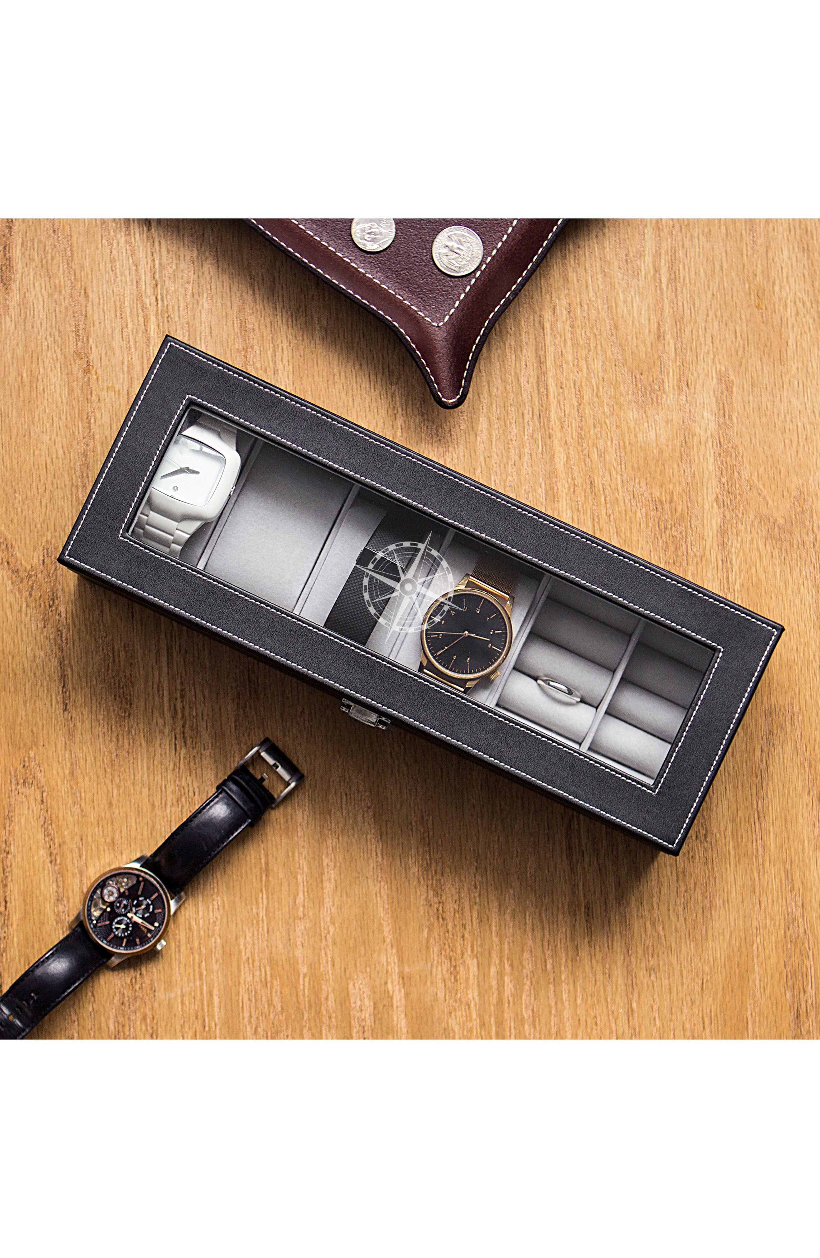 Compass Watch & Jewelry Case,                             Alternate thumbnail 4, color,                             001