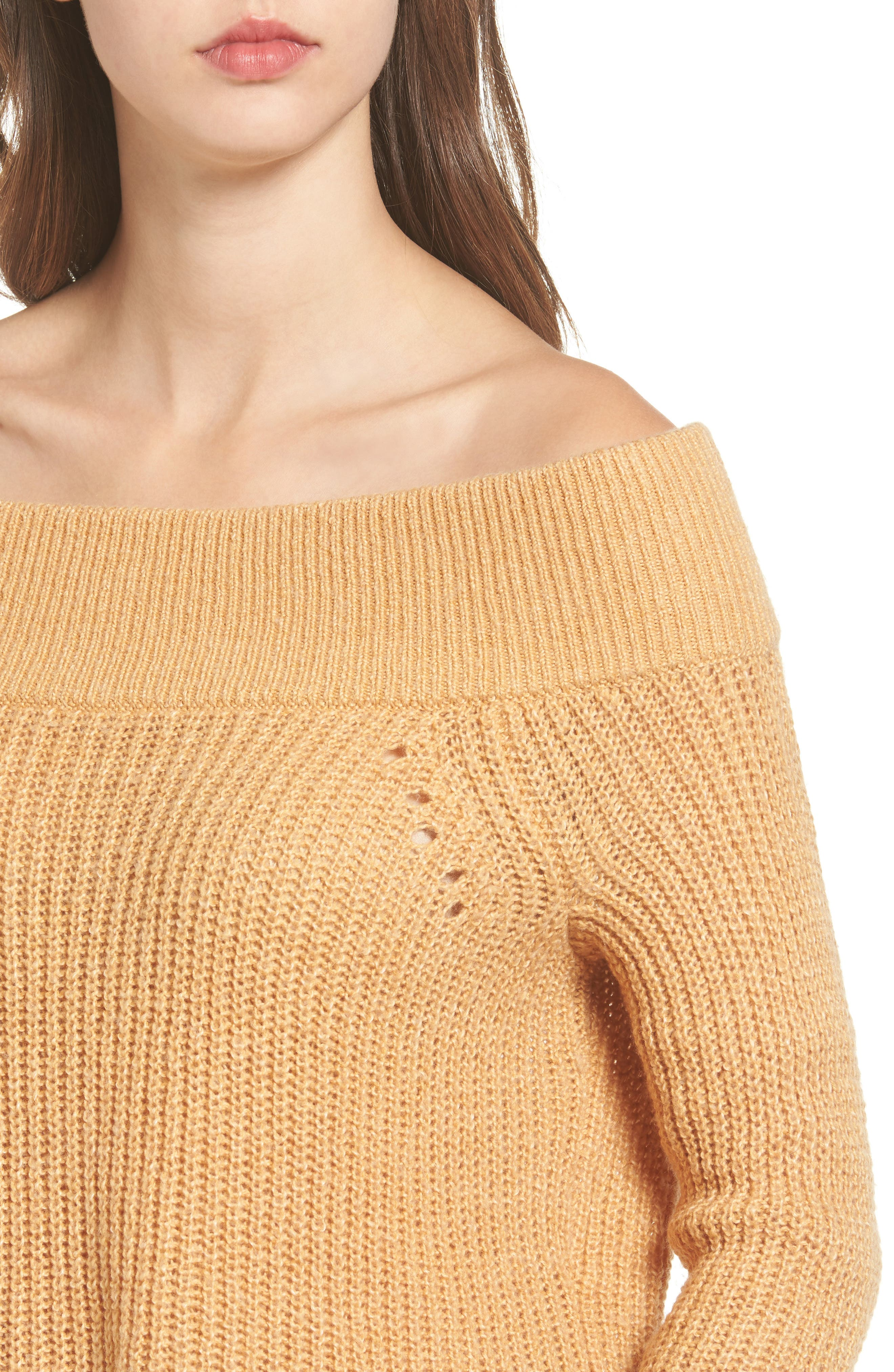 Lofty Off the Shoulder Pullover,                             Alternate thumbnail 4, color,                             235