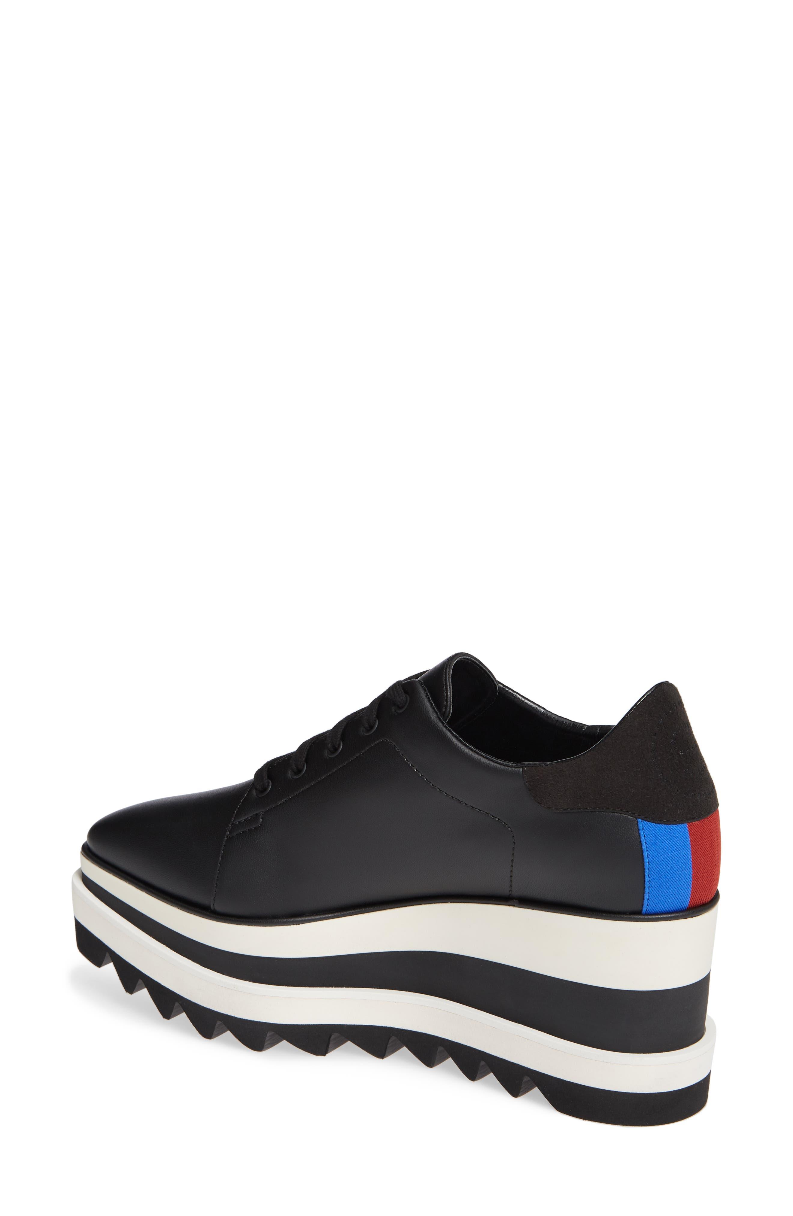 Sneak-Elyse Flatform Sneaker,                             Alternate thumbnail 2, color,                             BLACK