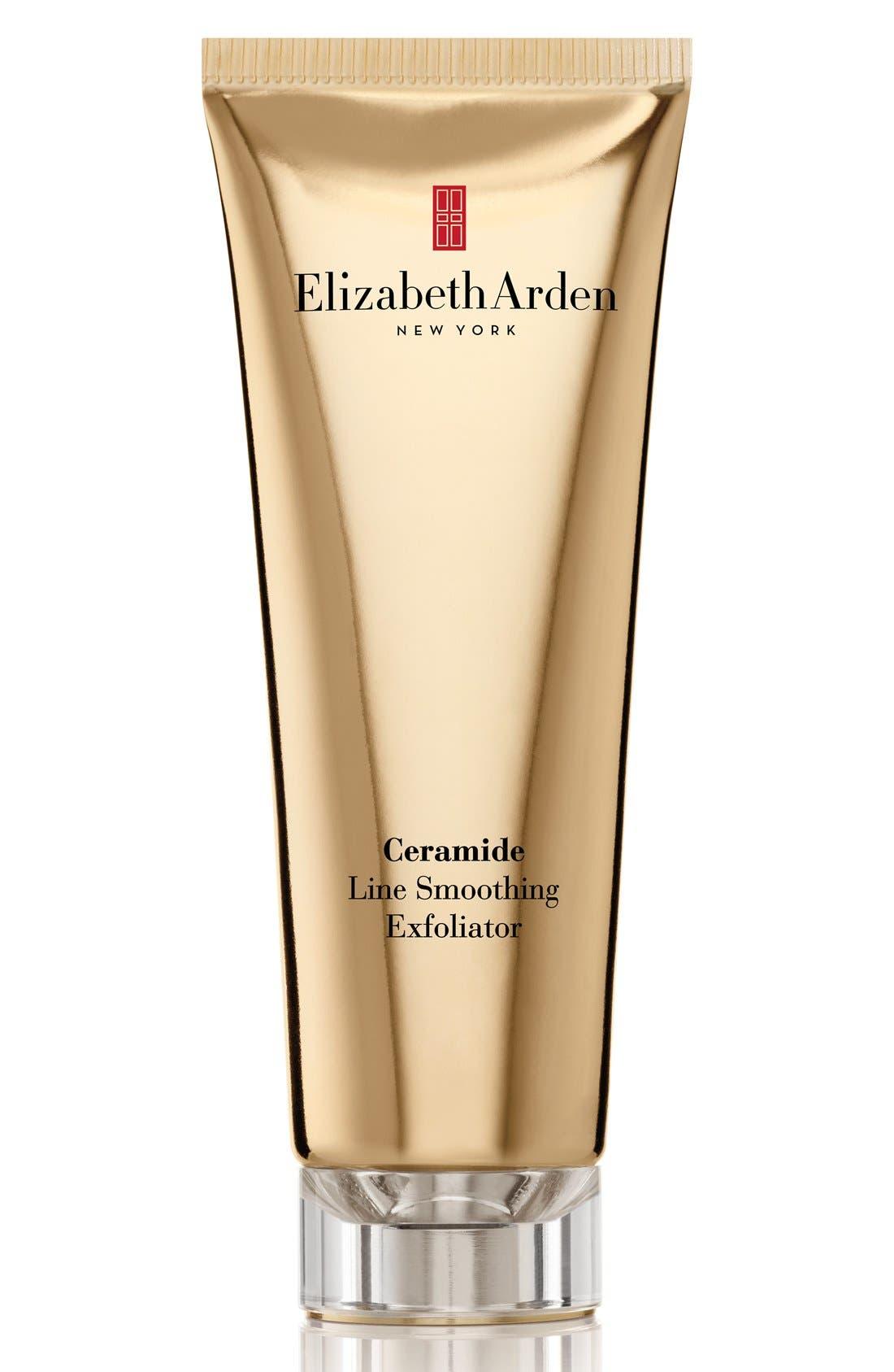 ELIZABETH ARDEN,                             Ceramide 'Plump Perfect' Gentle Line Smoothing Exfoliator,                             Main thumbnail 1, color,                             000