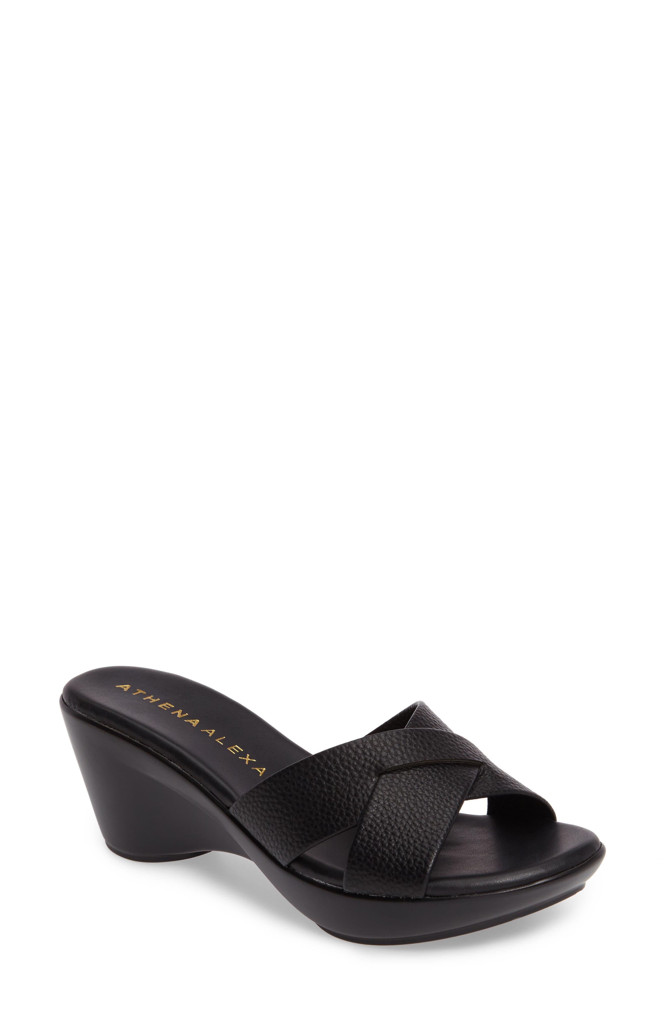 Verna Wedge Slide Sandal,                             Main thumbnail 1, color,                             001