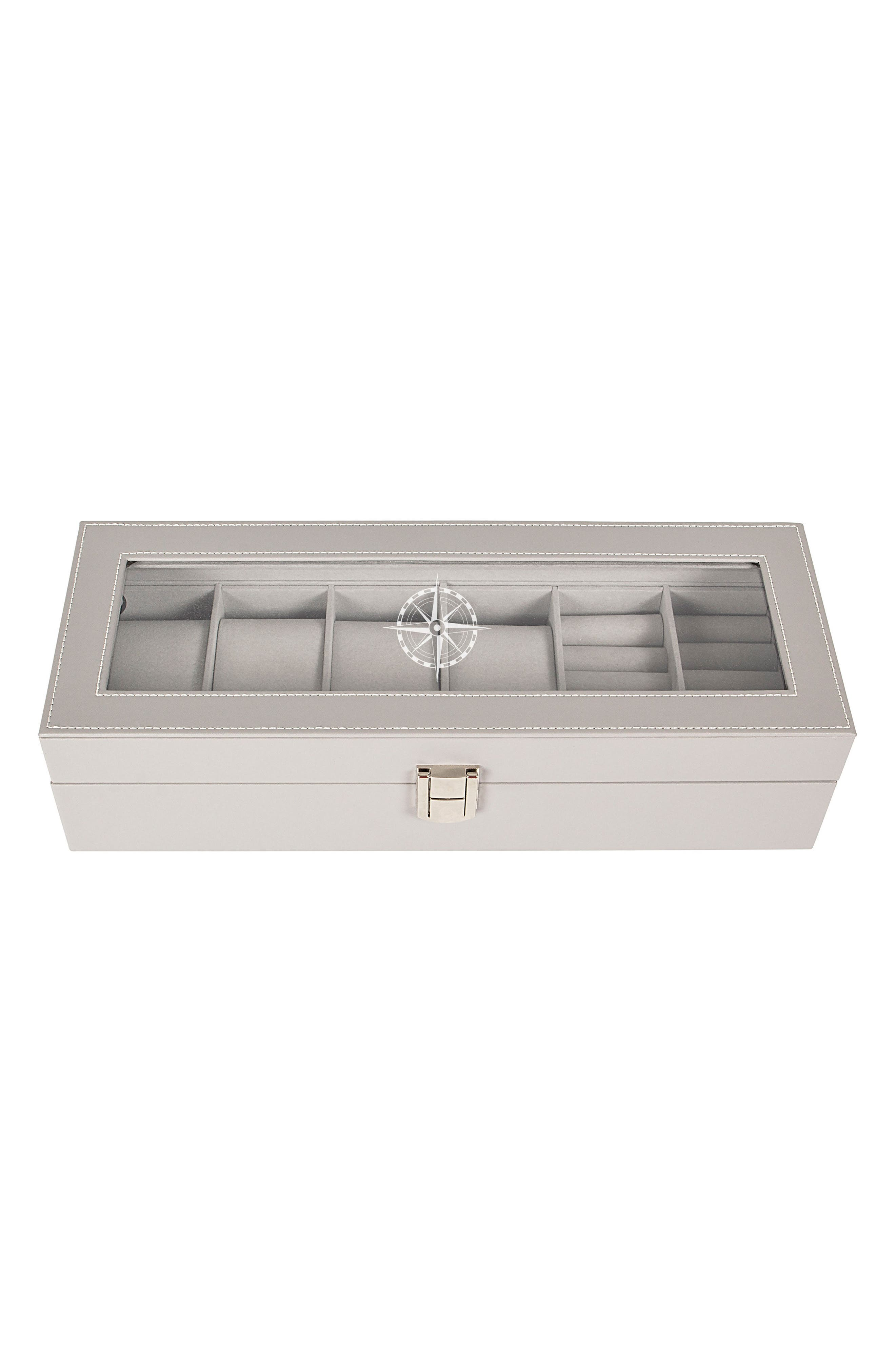 Compass Watch & Jewelry Case,                             Main thumbnail 1, color,                             020