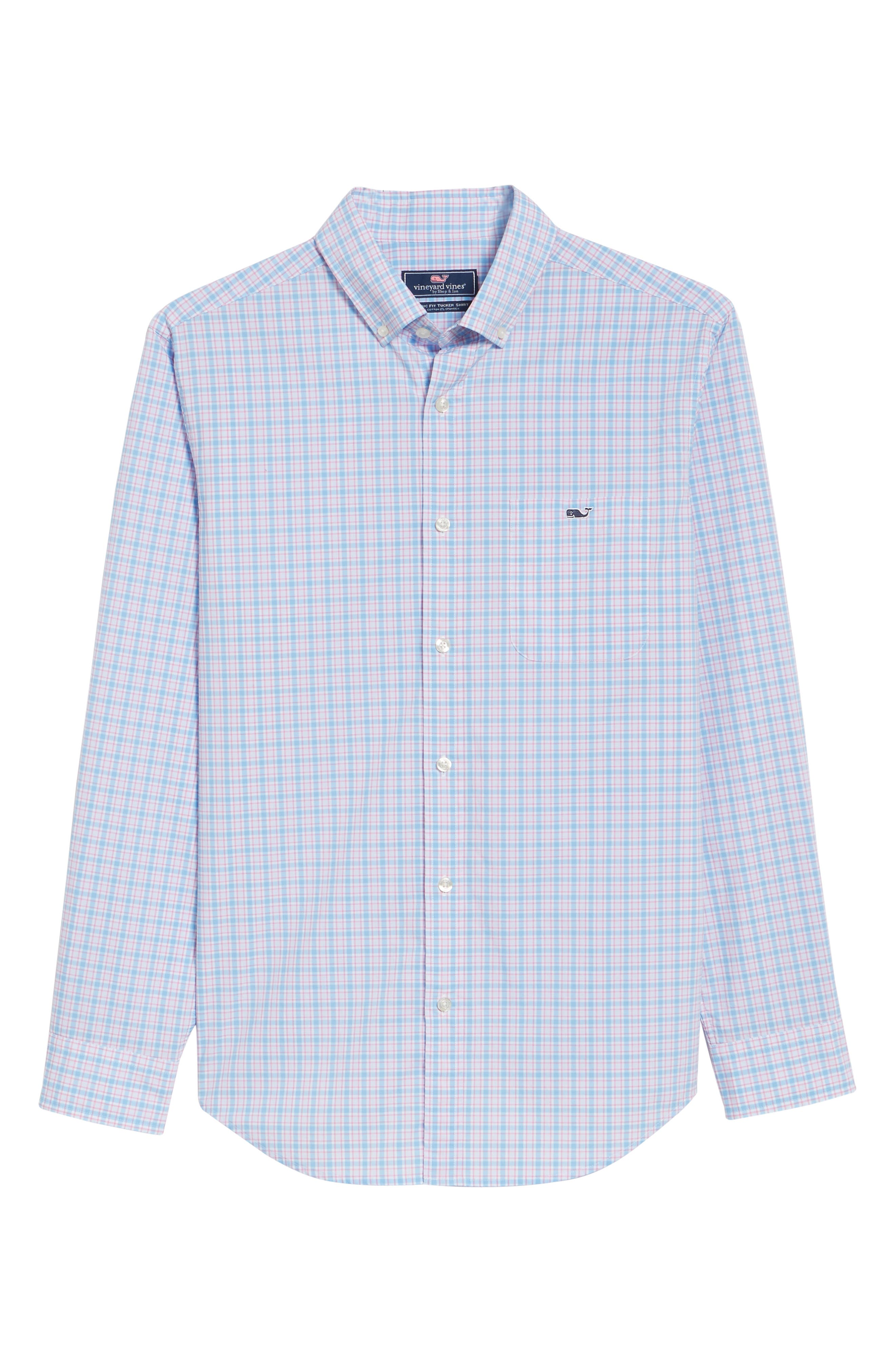 Captain Lyford Classic Fit Stretch Check Sport Shirt,                             Alternate thumbnail 6, color,                             484