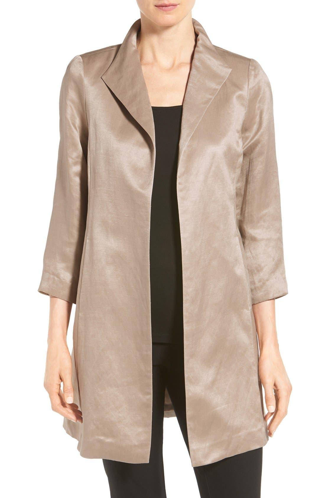 High Collar Long Jacket,                             Main thumbnail 4, color,