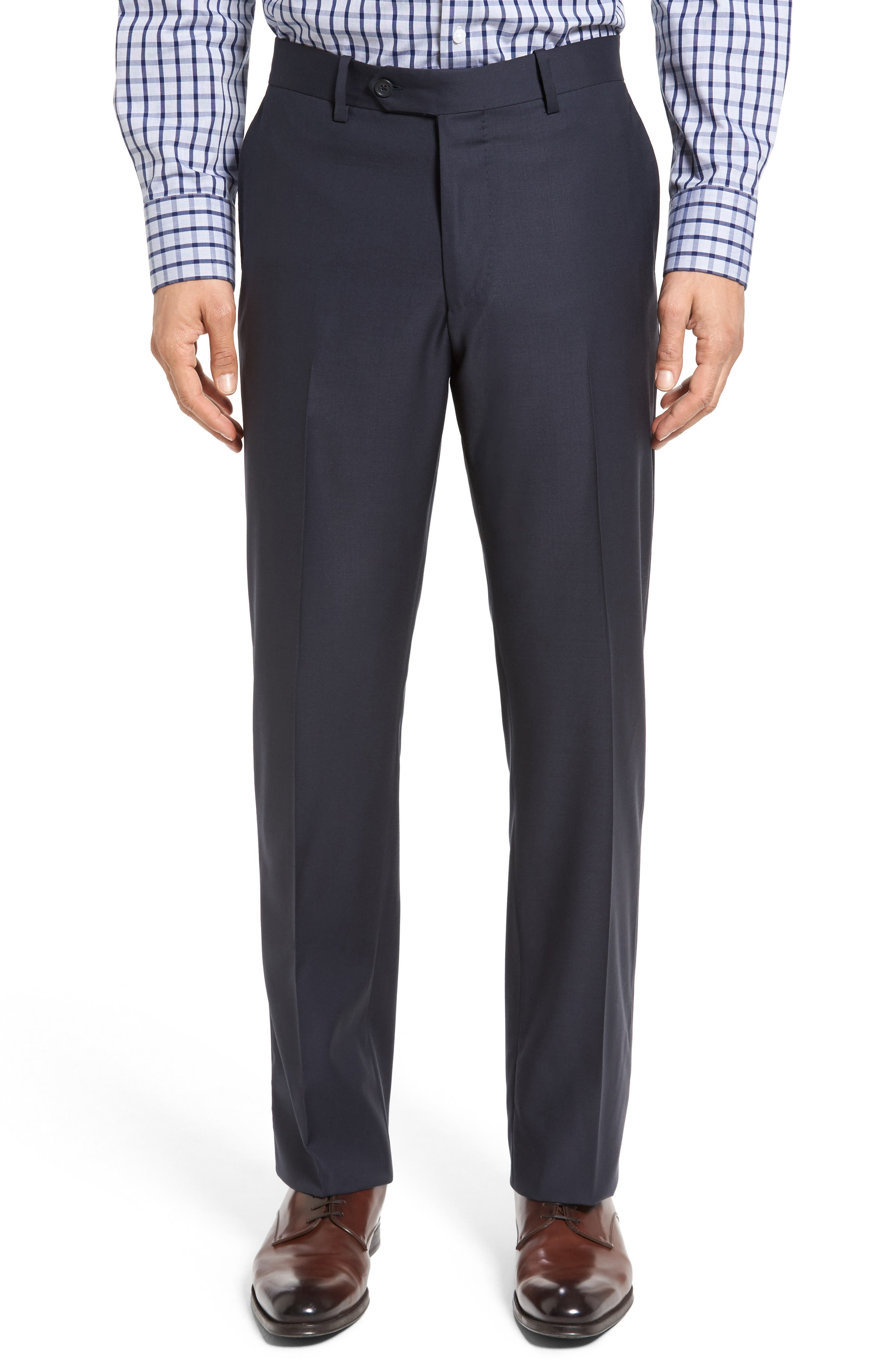Classic Fit Solid Wool Suit,                             Alternate thumbnail 36, color,