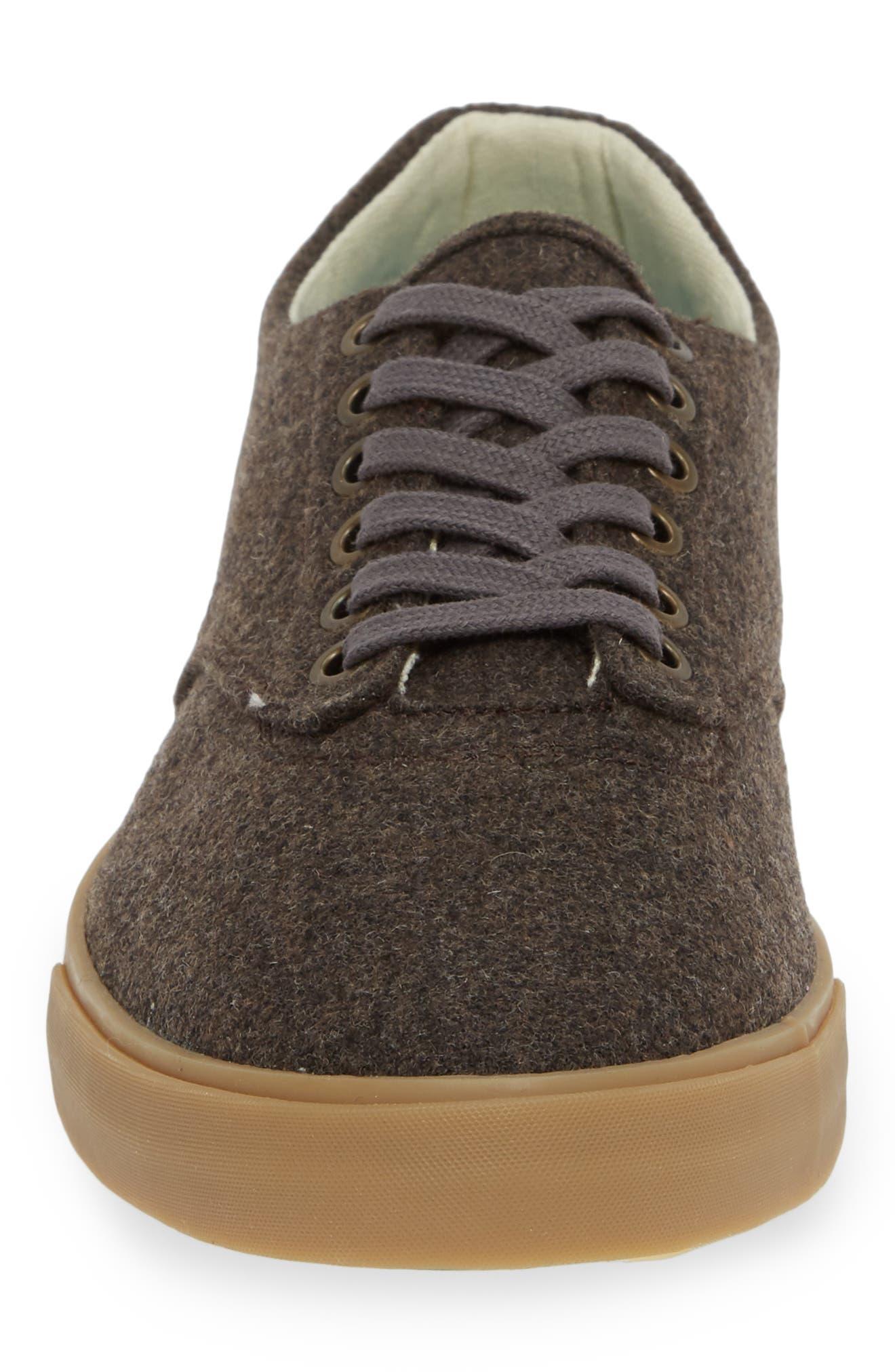 Hermosa Grayers Sneaker,                             Alternate thumbnail 4, color,                             DARK BROWN WOOL FLANNEL