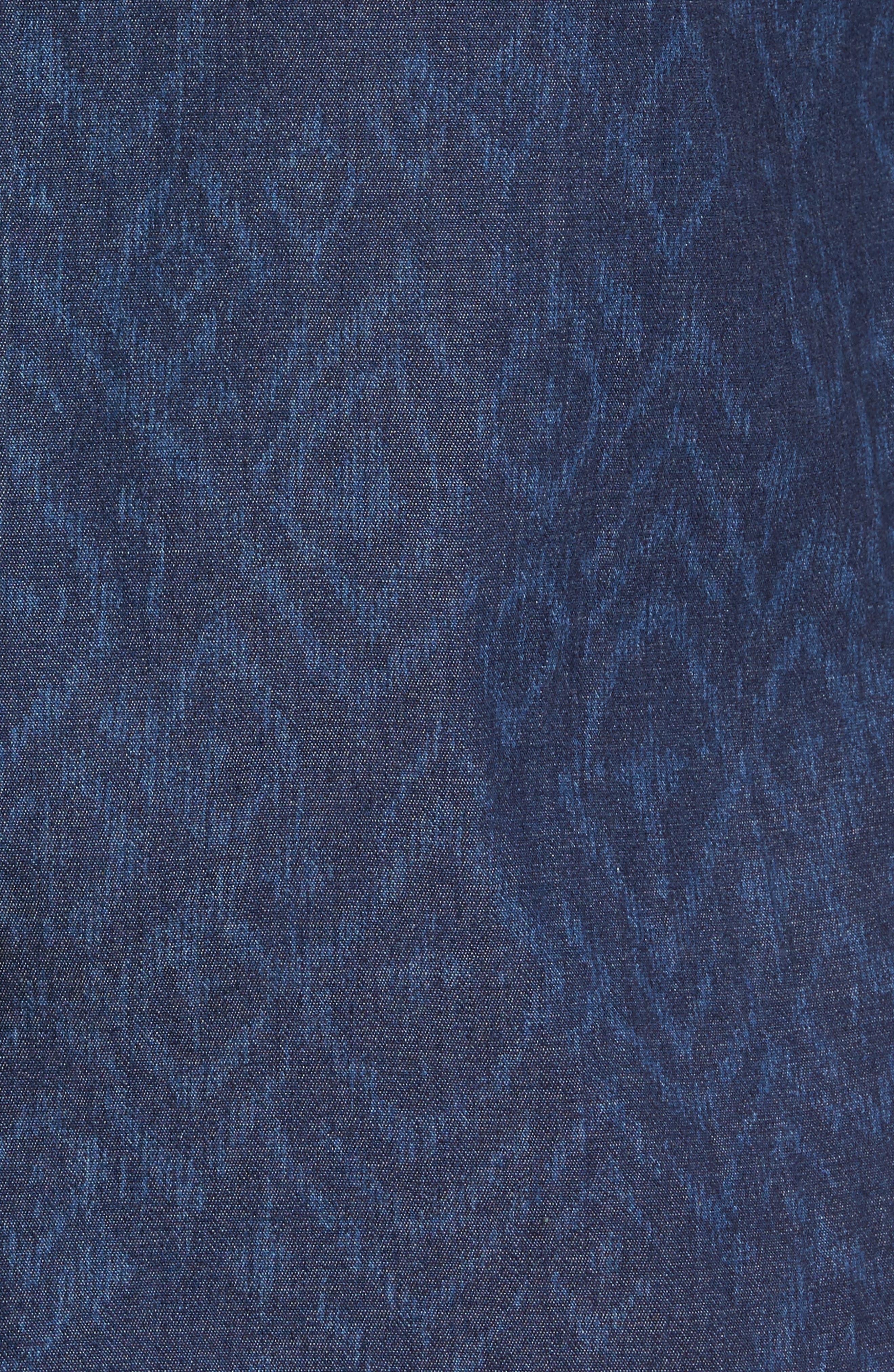 Marquee Moon Print Woven Shirt,                             Alternate thumbnail 5, color,                             410
