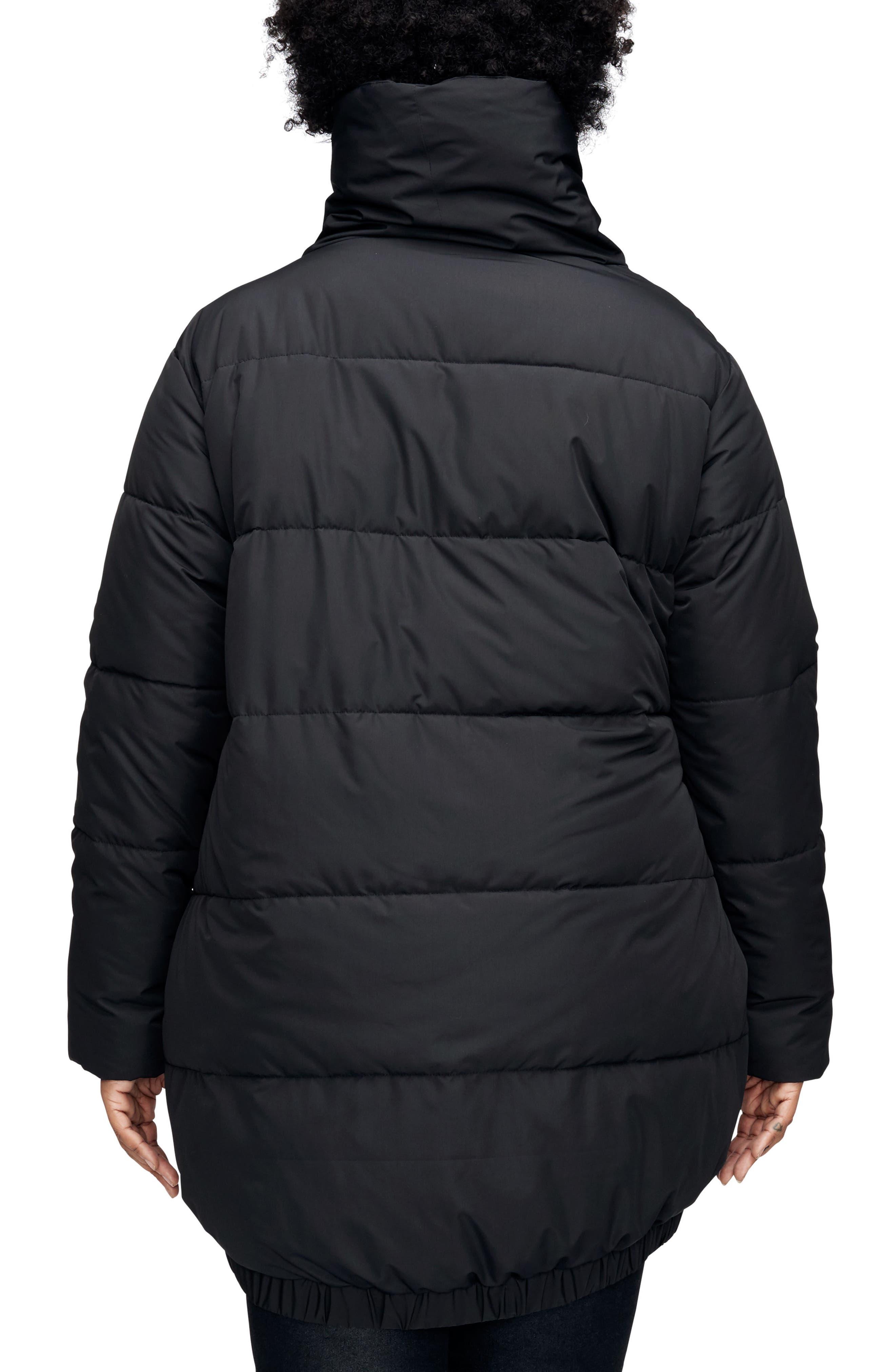 Kanda Puffer Jacket,                             Alternate thumbnail 2, color,                             BLACK