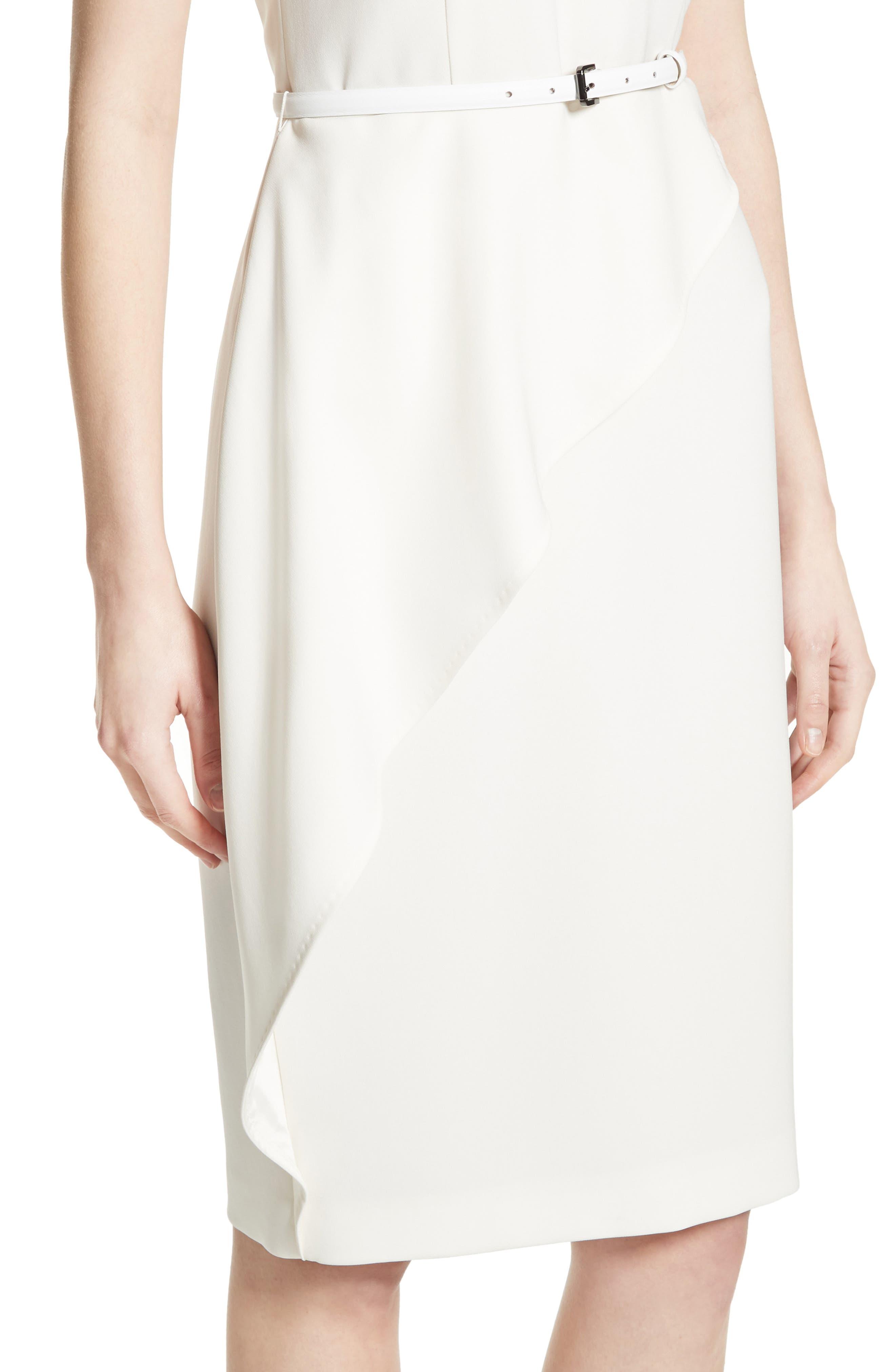 Ossola Sheath Dress,                             Alternate thumbnail 4, color,                             100