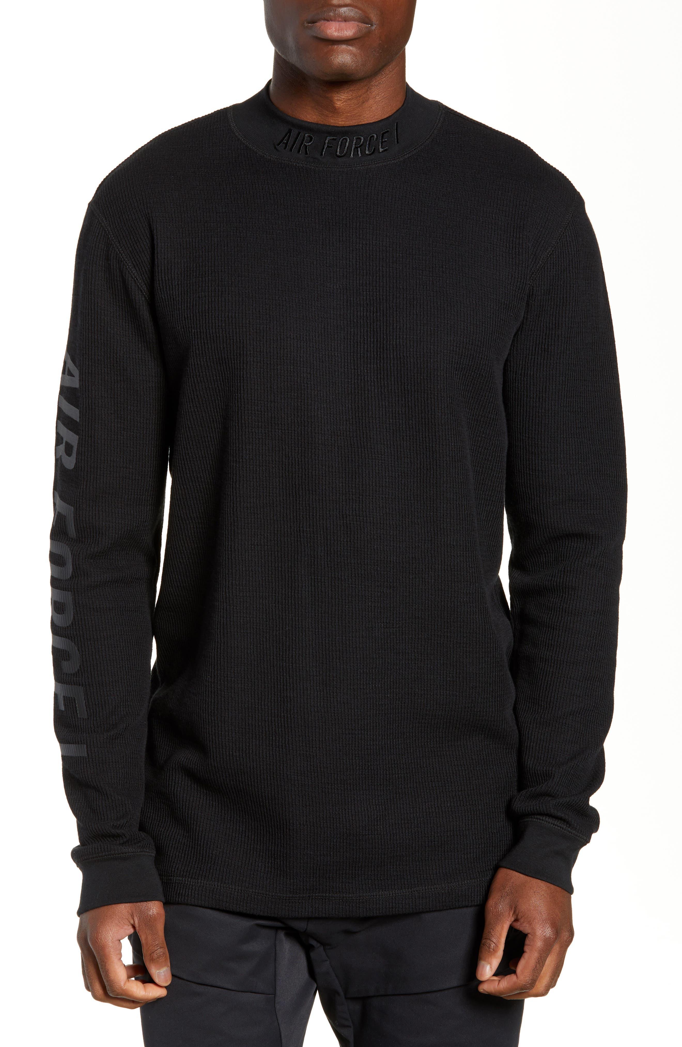Sportswear Air Force 1 Long Sleeve Top,                             Main thumbnail 1, color,                             BLACK