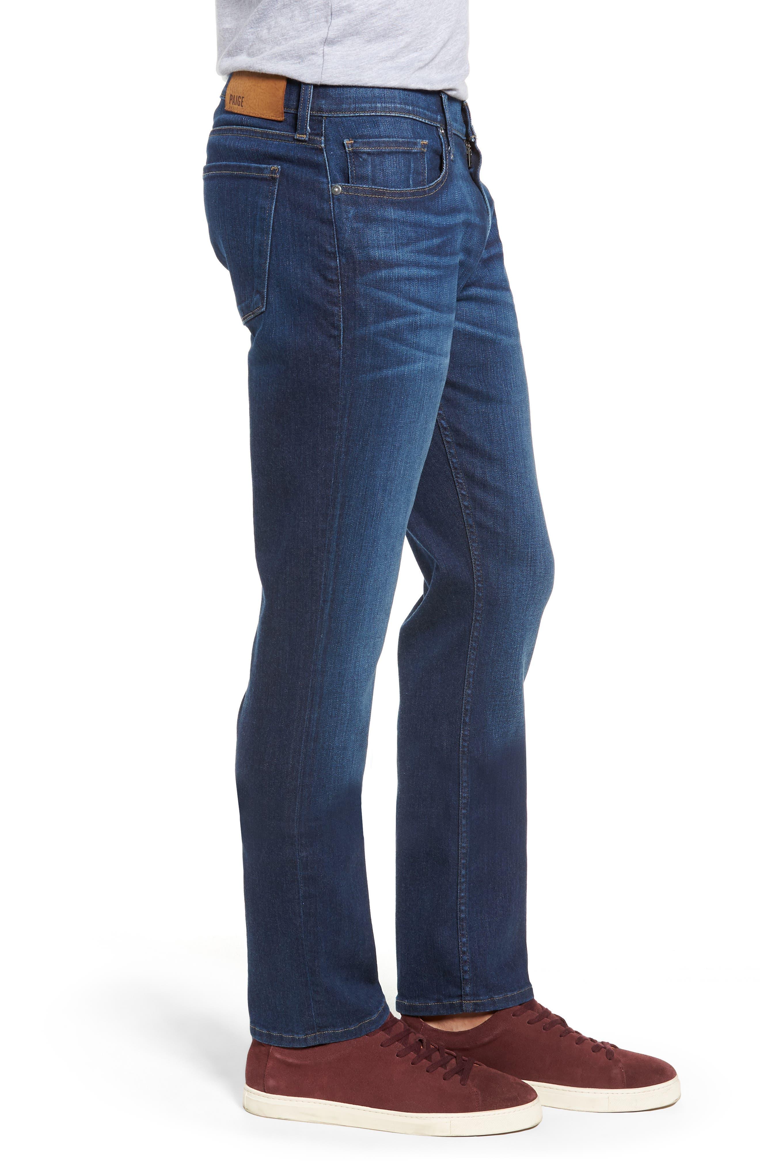Transcend Vintage - Federal Slim Straight Leg Jeans,                             Alternate thumbnail 3, color,                             ELWYN