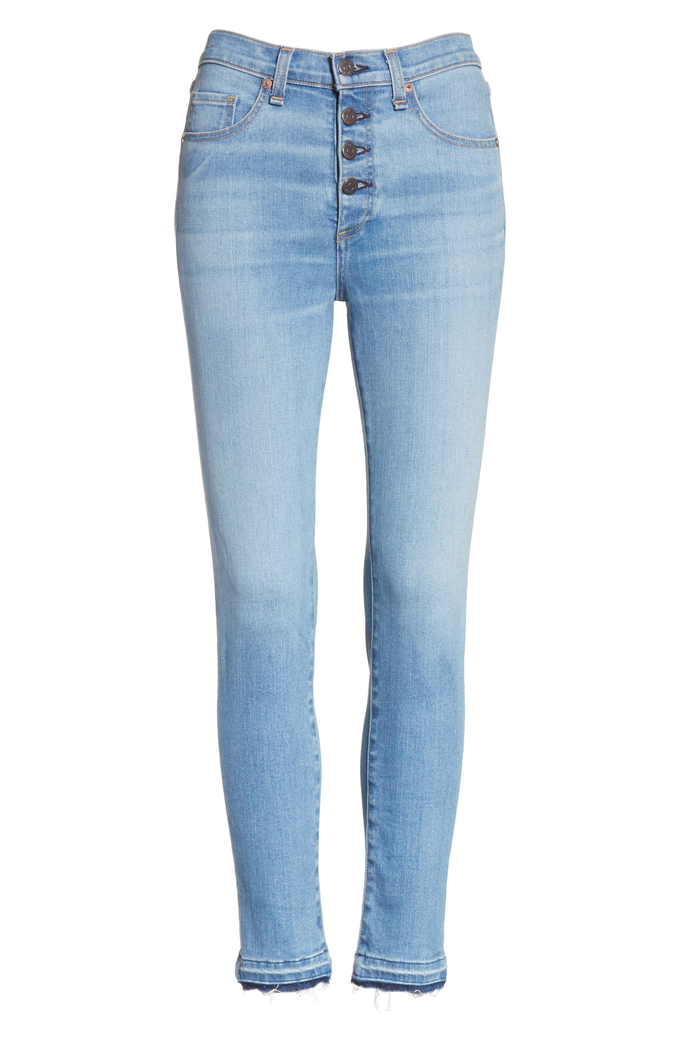 Debbie Frayed Crop Skinny Jeans,                             Alternate thumbnail 22, color,