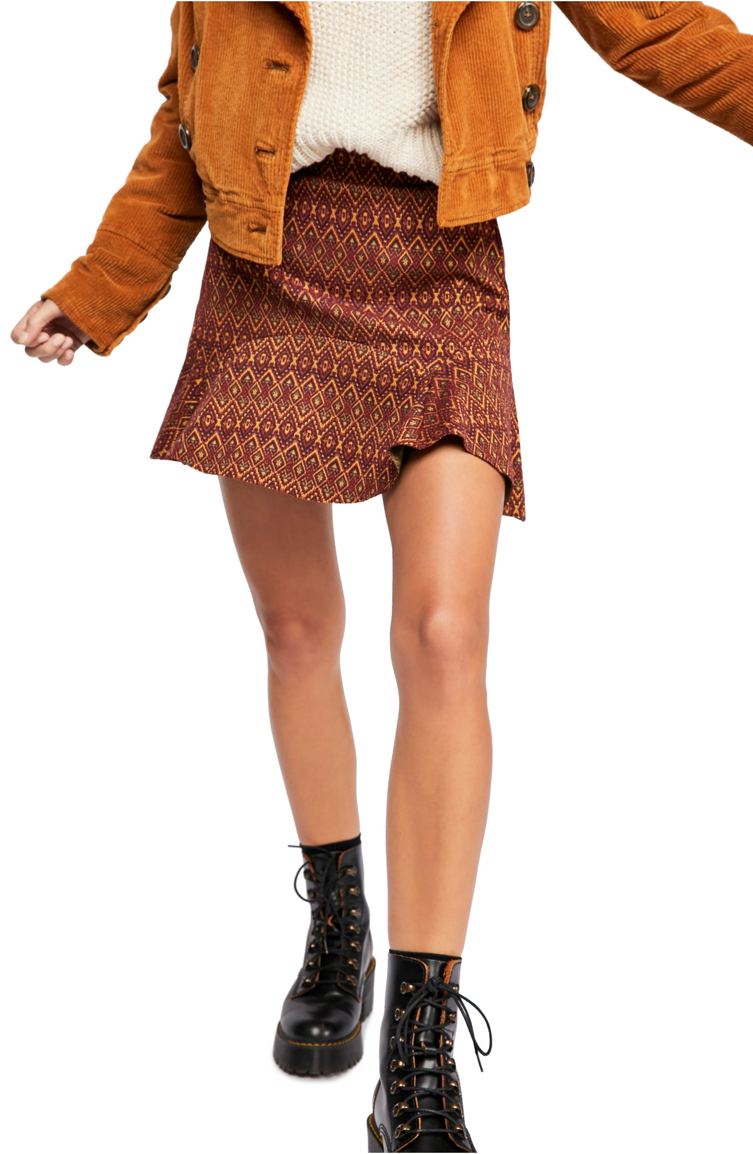 Free People When In Rome Miniskirt, Red
