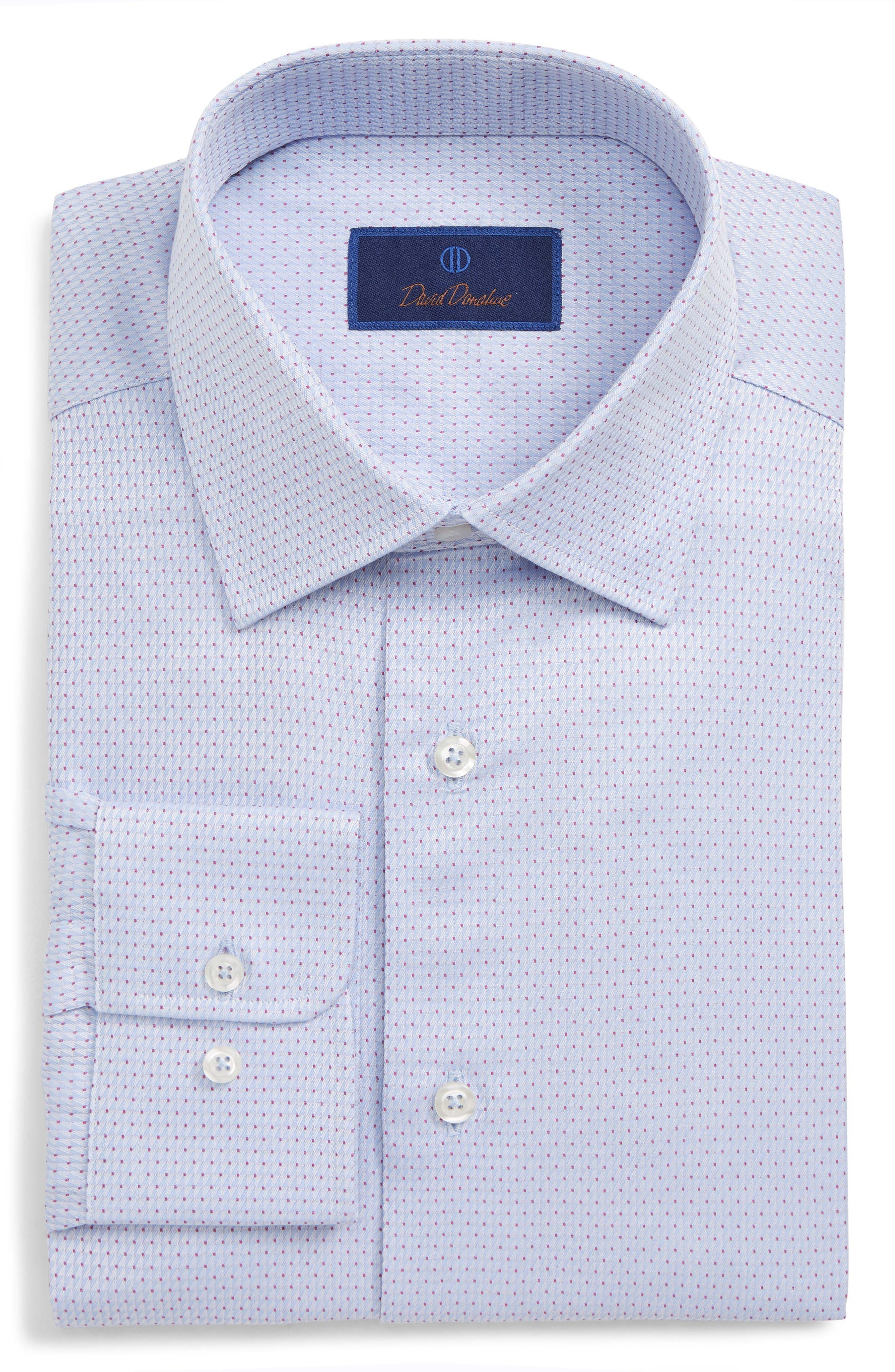 Regular Fit Geometric Dress Shirt,                             Main thumbnail 1, color,                             SKY/ BERRY