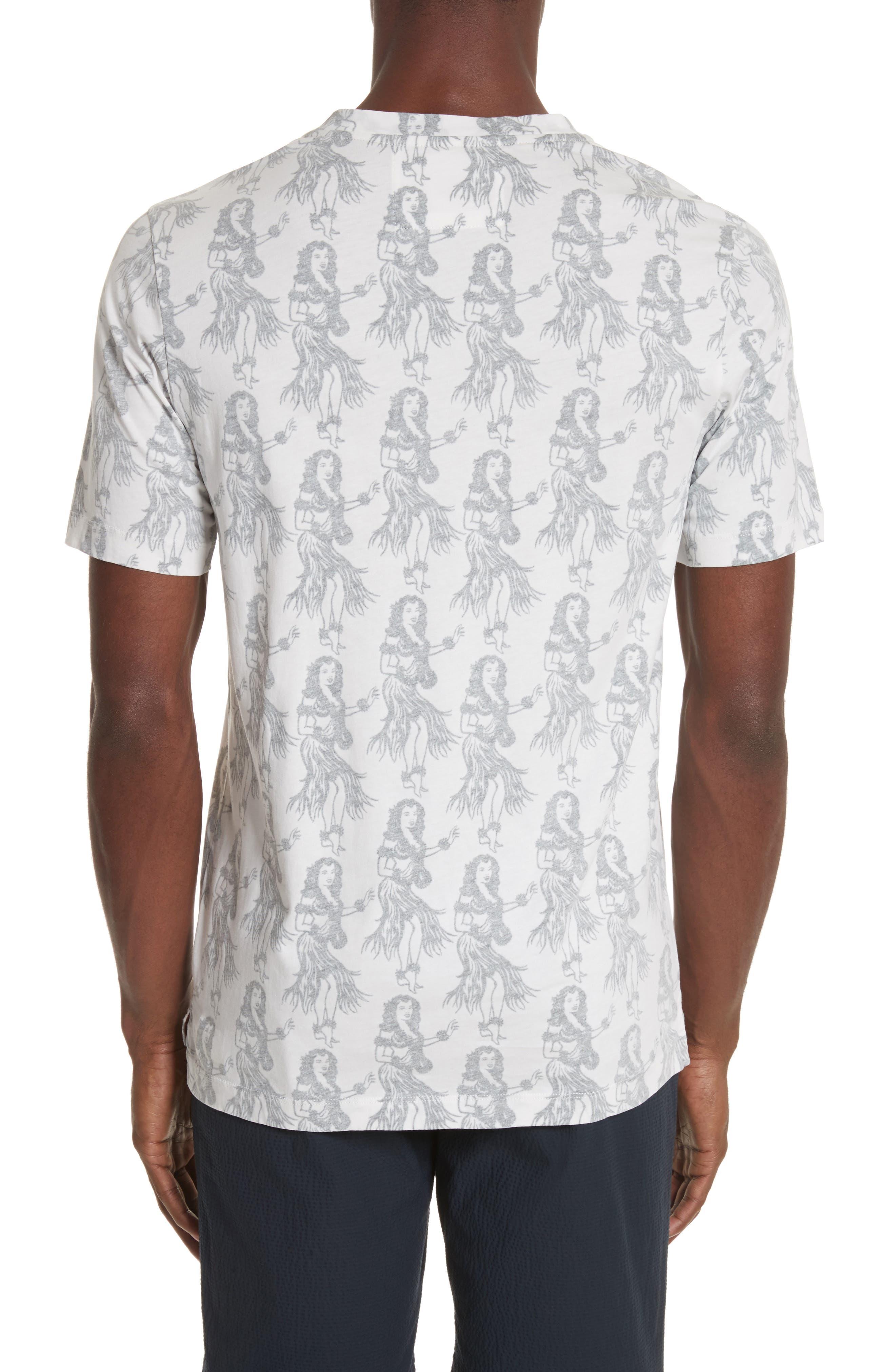 Aloha Print T-Shirt,                             Alternate thumbnail 2, color,