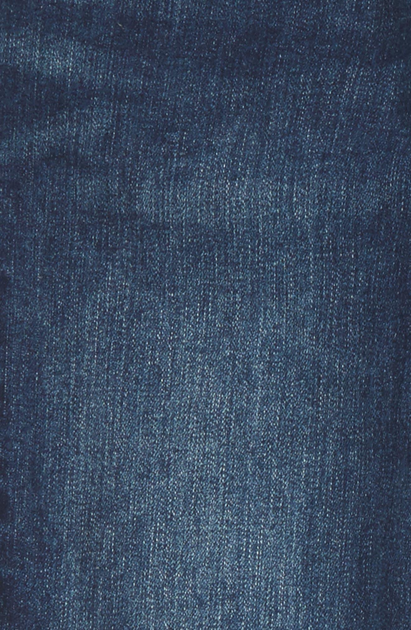Fray Hem Skinny Jeans,                             Alternate thumbnail 3, color,                             407