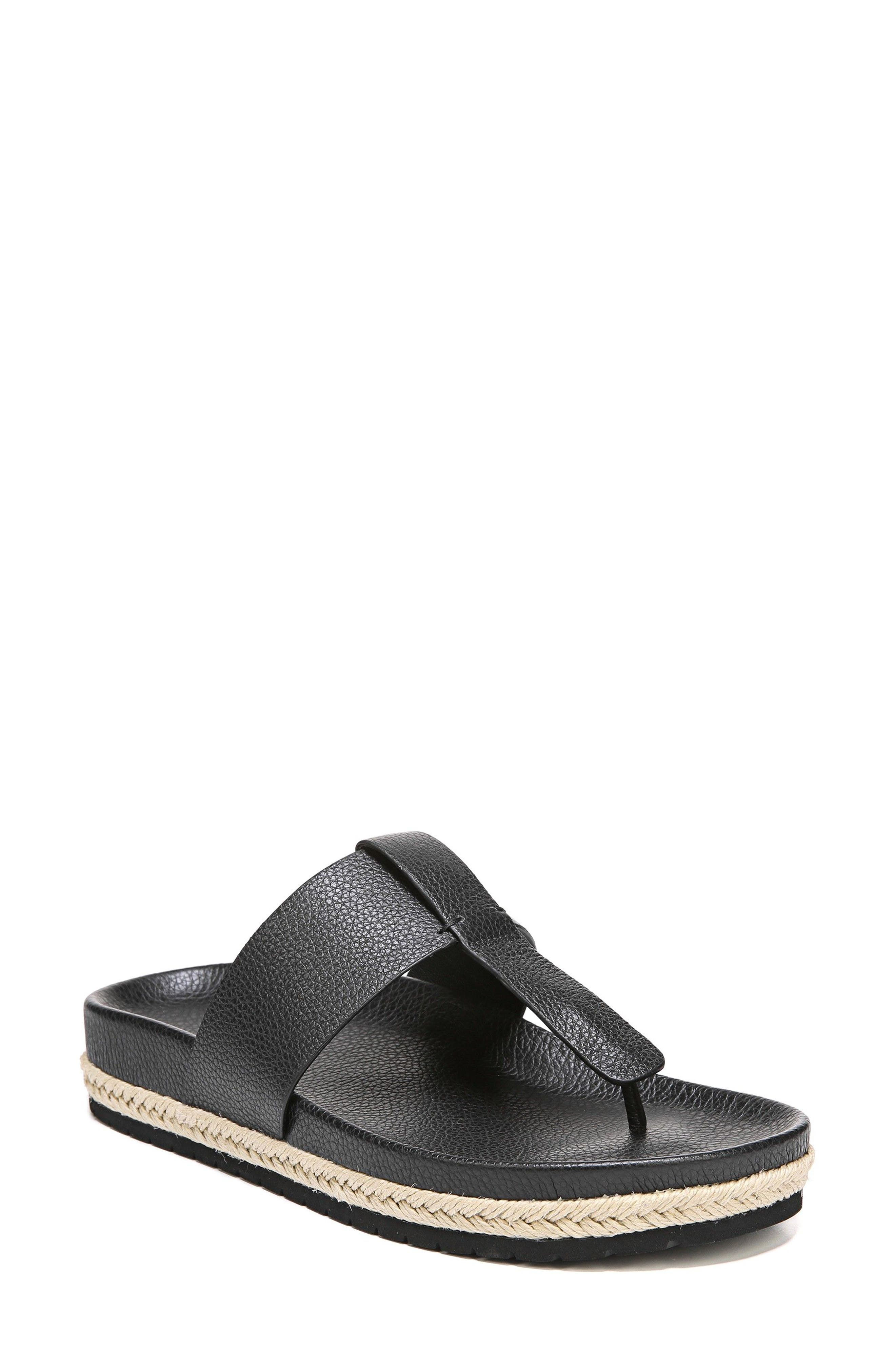 Avani T-Strap Flat Sandal,                             Main thumbnail 1, color,                             001