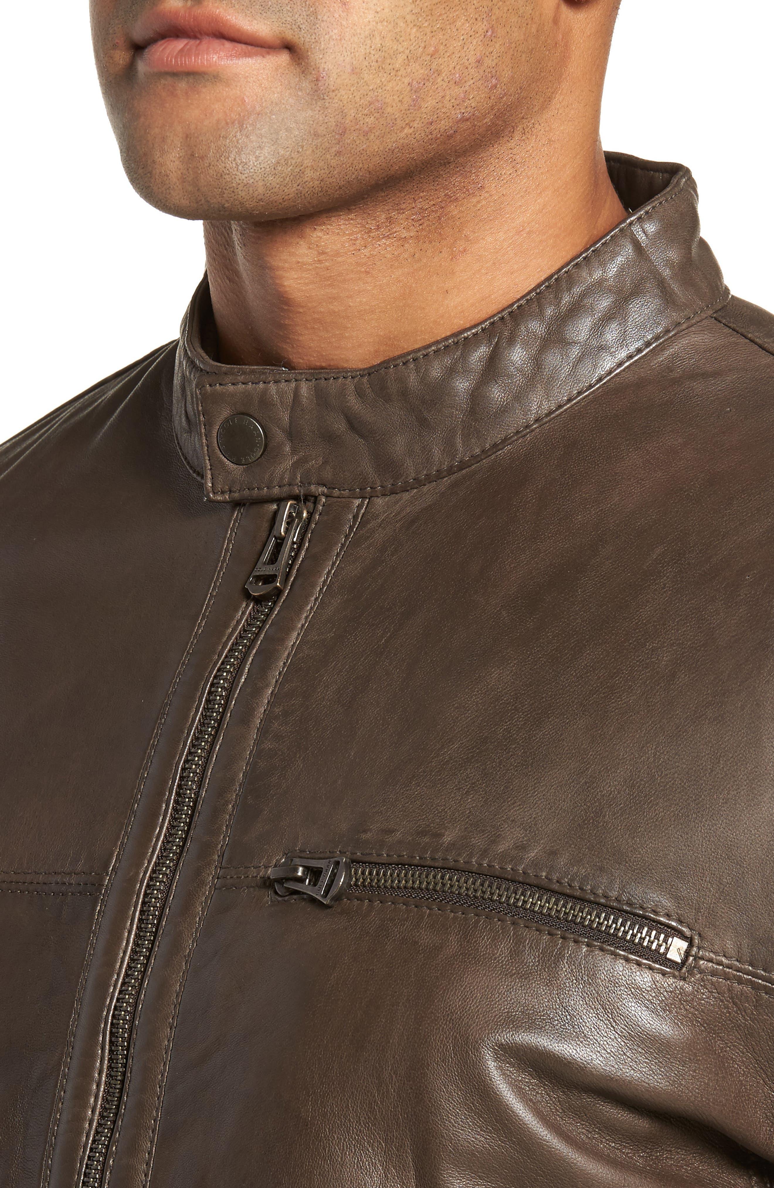 Washed Lamb Leather Moto Jacket,                             Alternate thumbnail 8, color,
