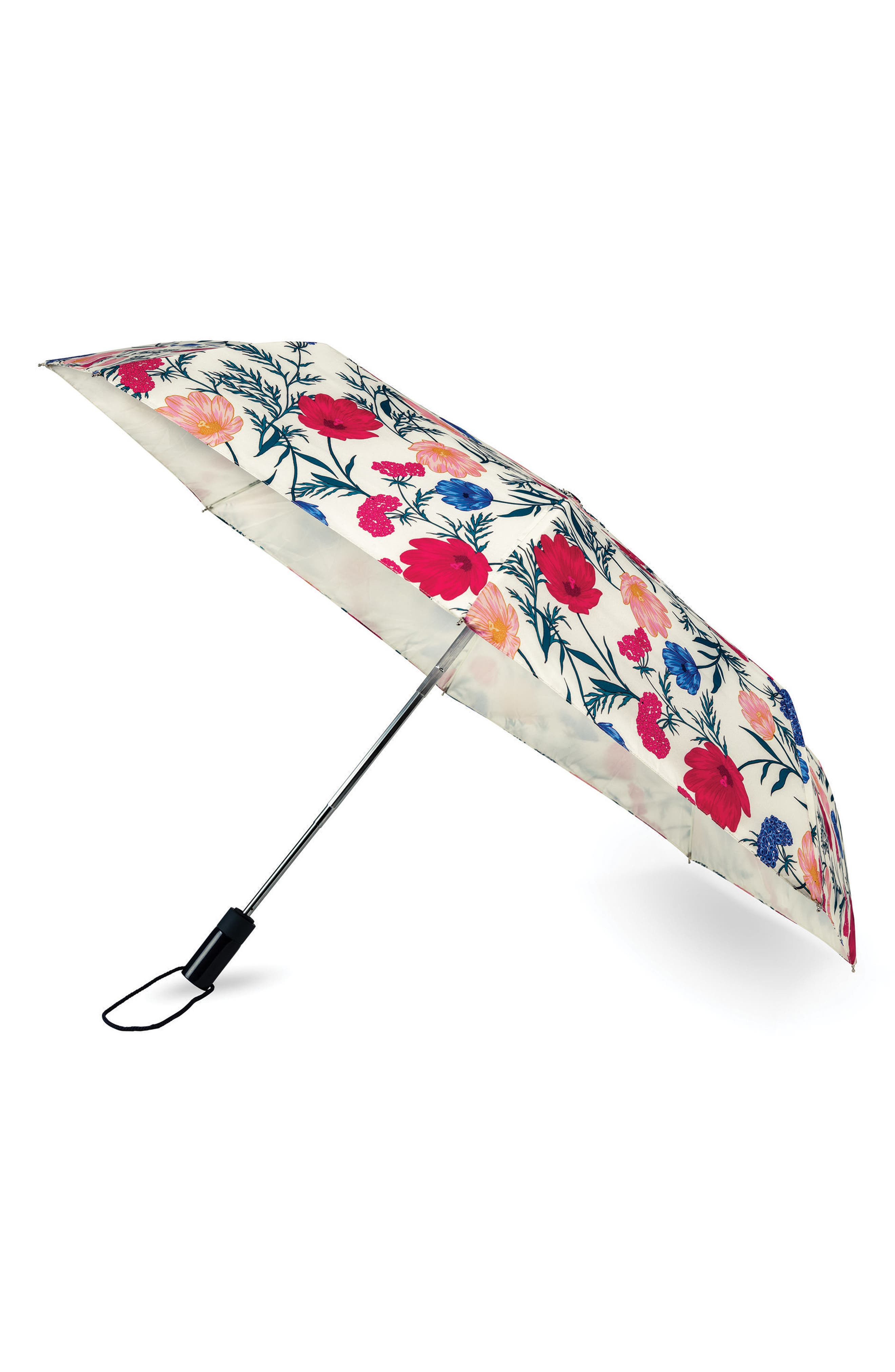 rain drop compact travel umbrella,                             Main thumbnail 1, color,                             MULTI