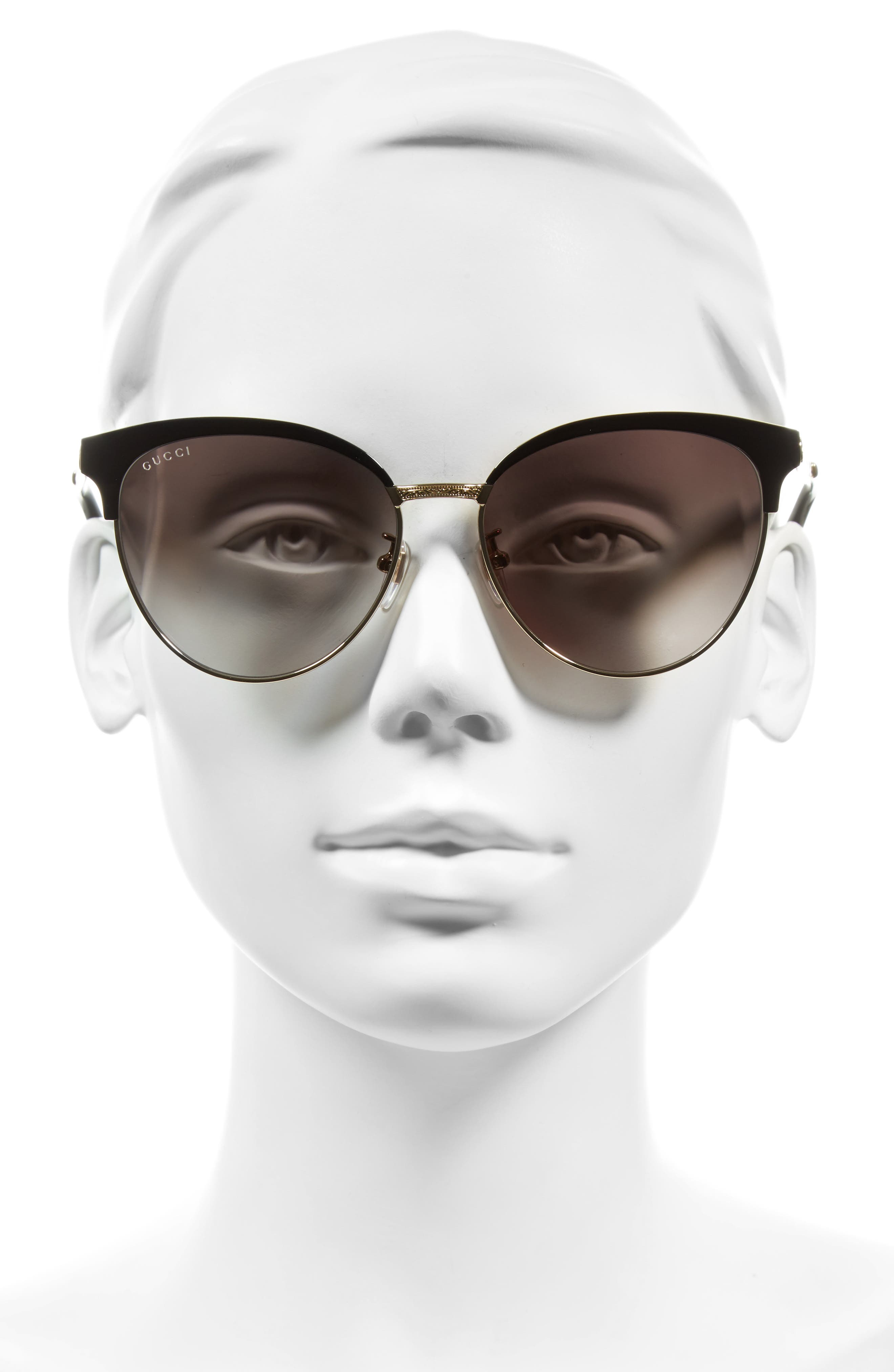 57mm Retro Sunglasses,                             Alternate thumbnail 2, color,                             001