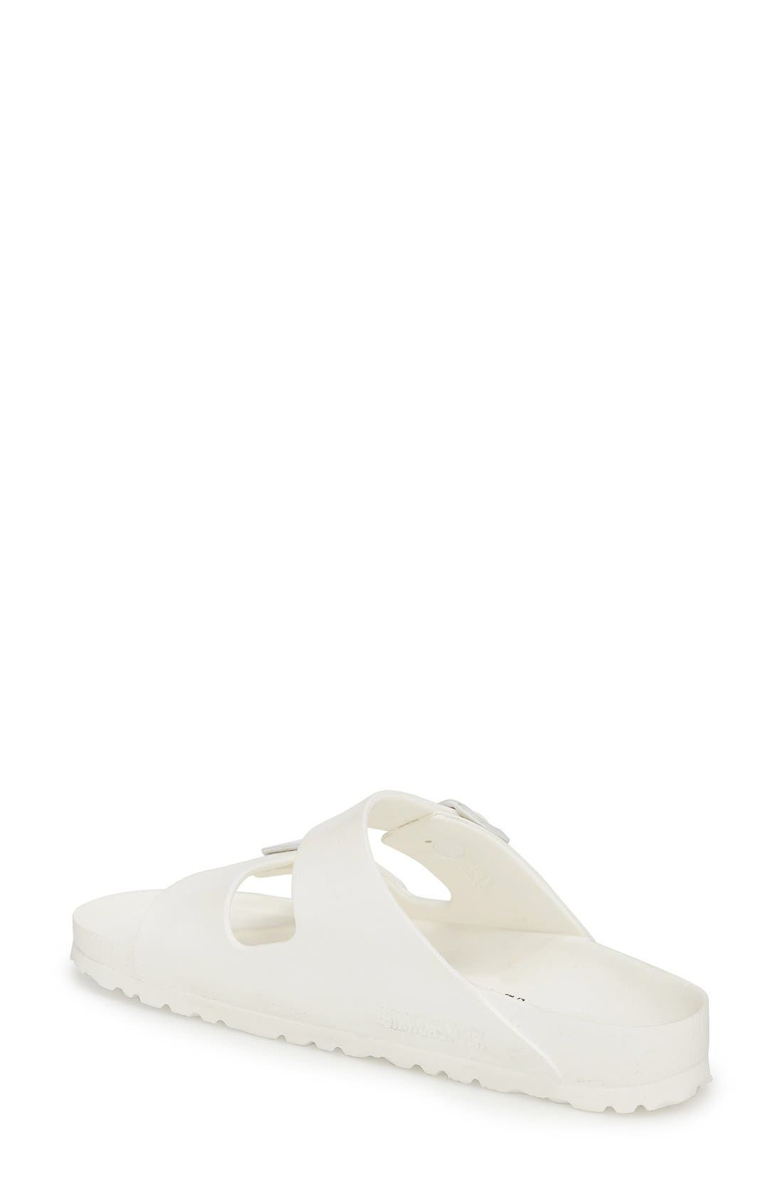 Essentials - Arizona Slide Sandal,                             Alternate thumbnail 7, color,                             WHITE EVA