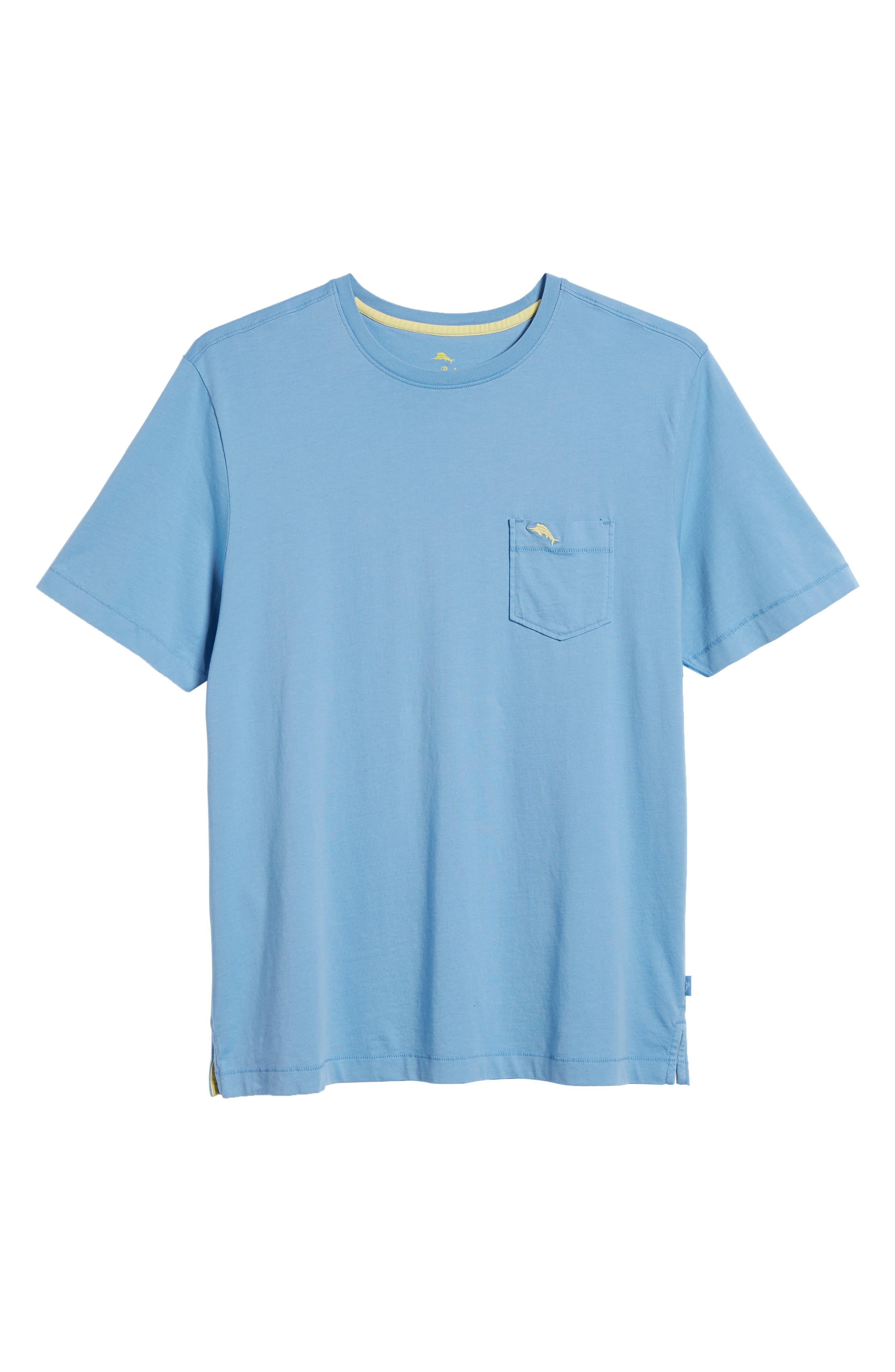New Bali Sky Pima Cotton Pocket T-Shirt,                             Alternate thumbnail 131, color,