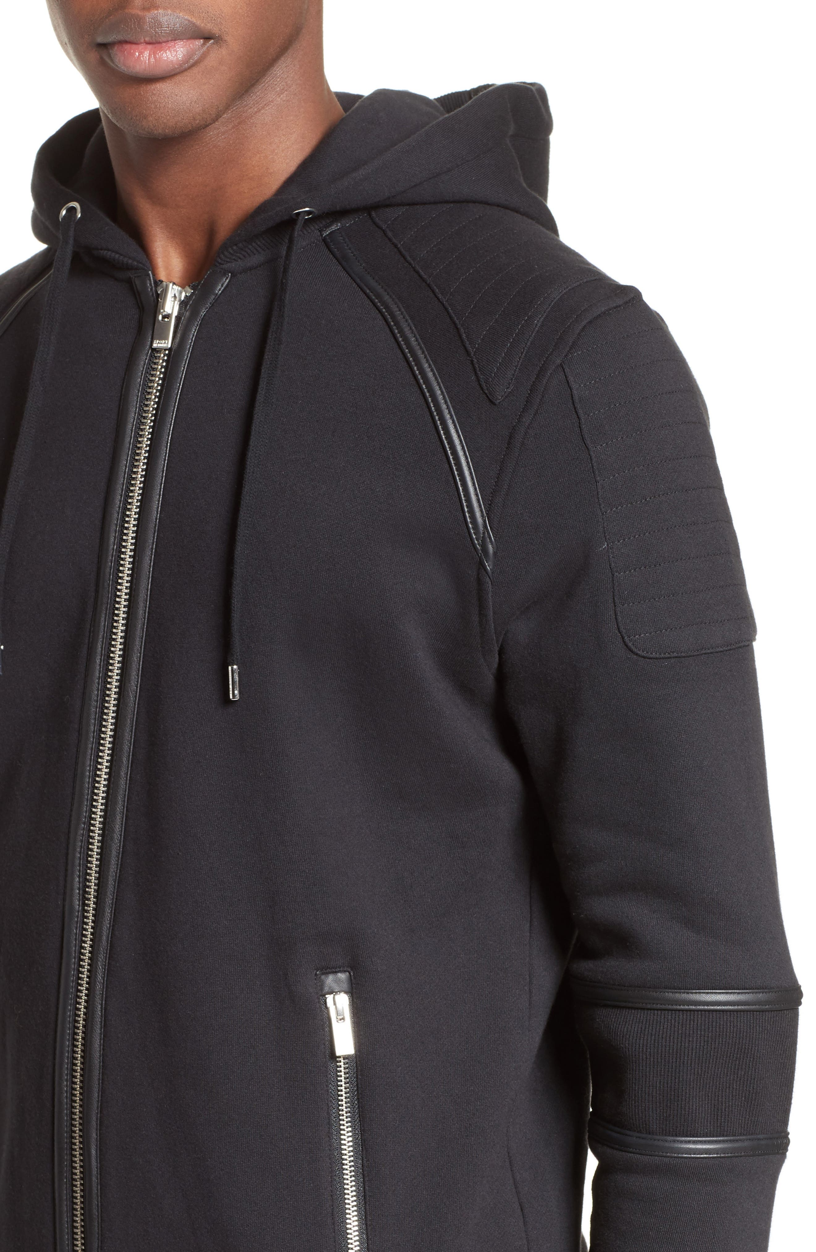 Zip Front Hoodie,                             Alternate thumbnail 4, color,