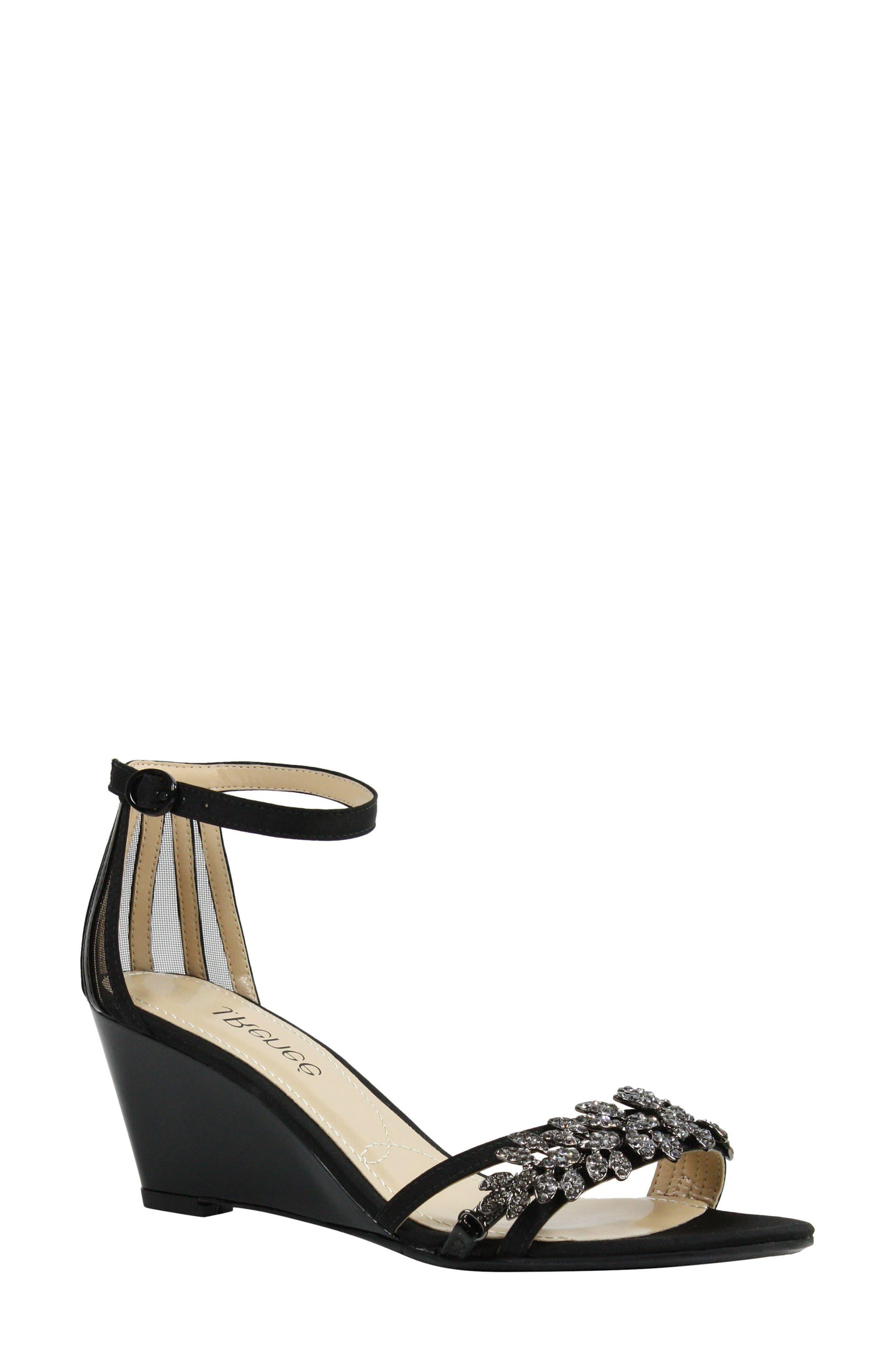 Mariabelle Ankle Strap Sandal,                             Main thumbnail 1, color,                             BLACK