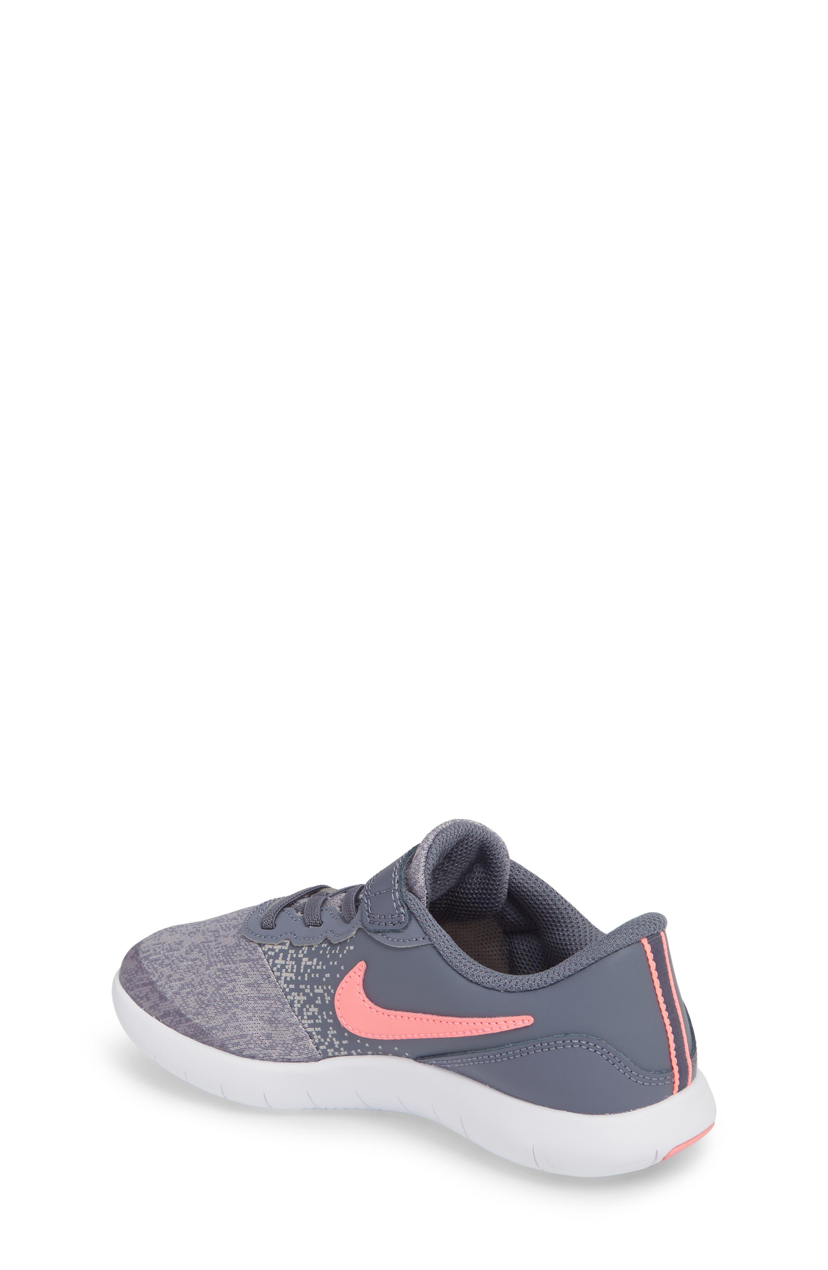 Flex Contact Running Shoe,                             Alternate thumbnail 2, color,                             LIGHT CARBON/ SUNSET PULSE