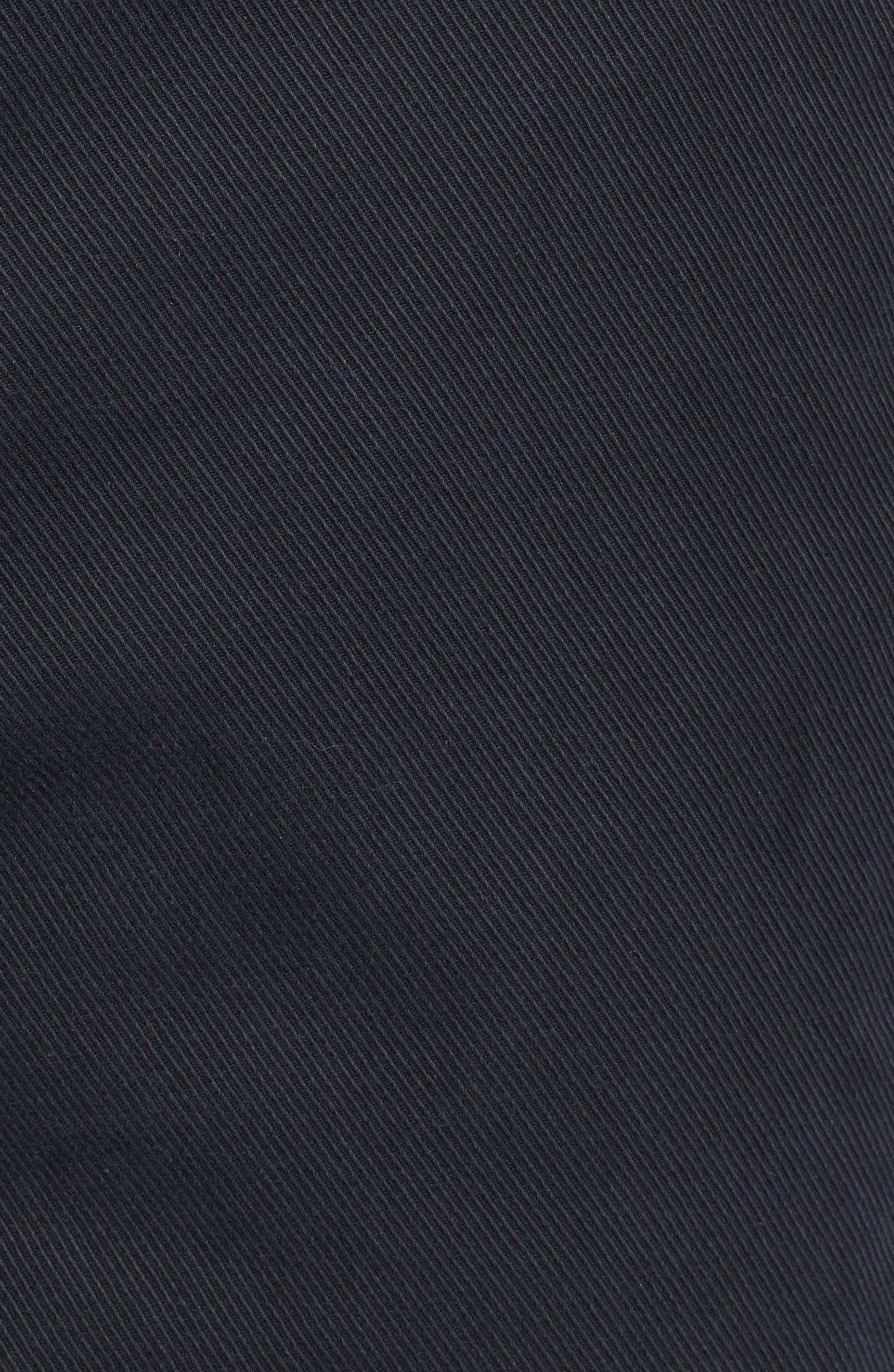 Curtis Flat Front Five-Pocket Cotton Twill Pants,                             Alternate thumbnail 2, color,                             BLACK