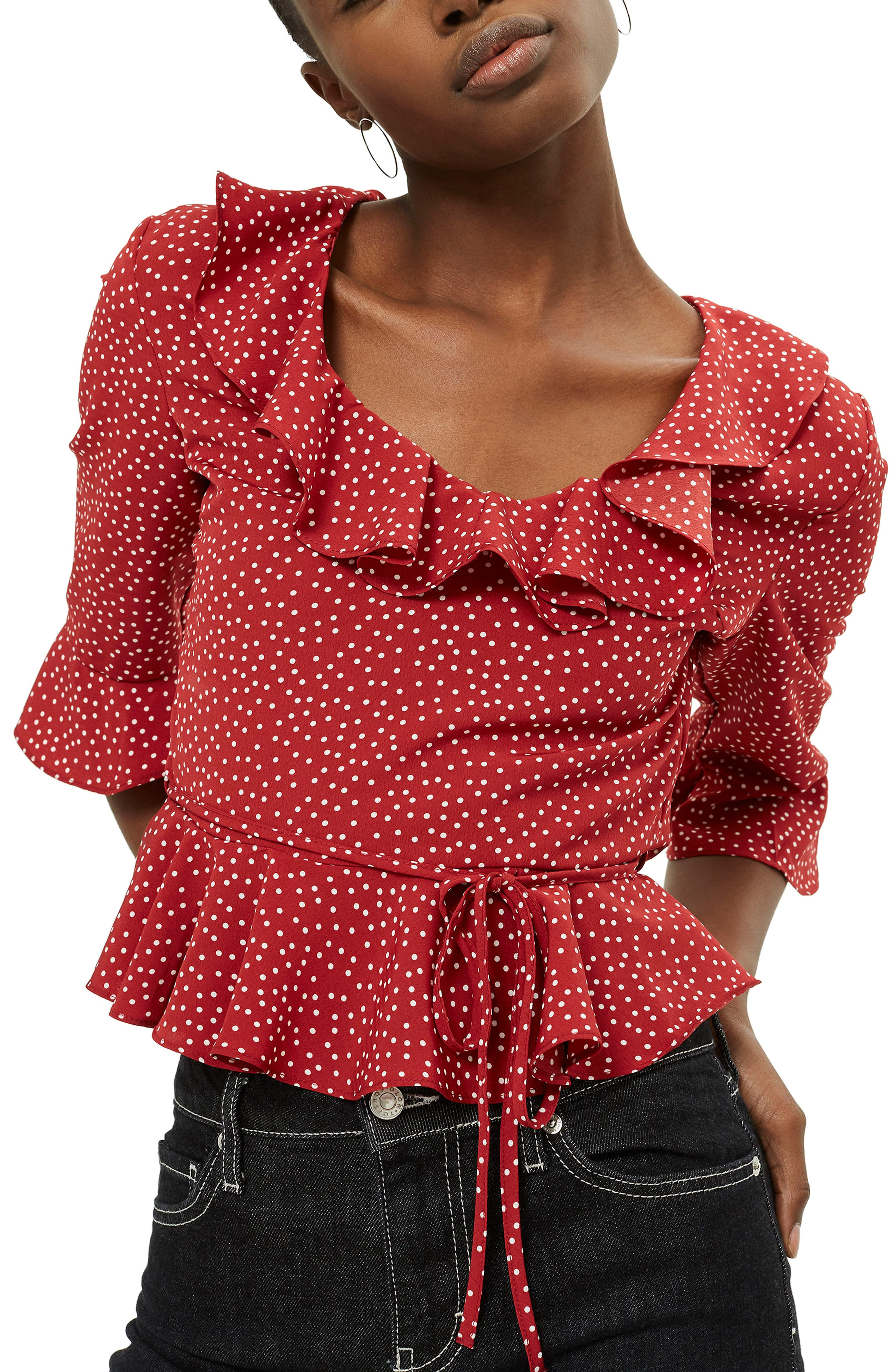 Phoebe Frilly Blouse,                             Main thumbnail 5, color,