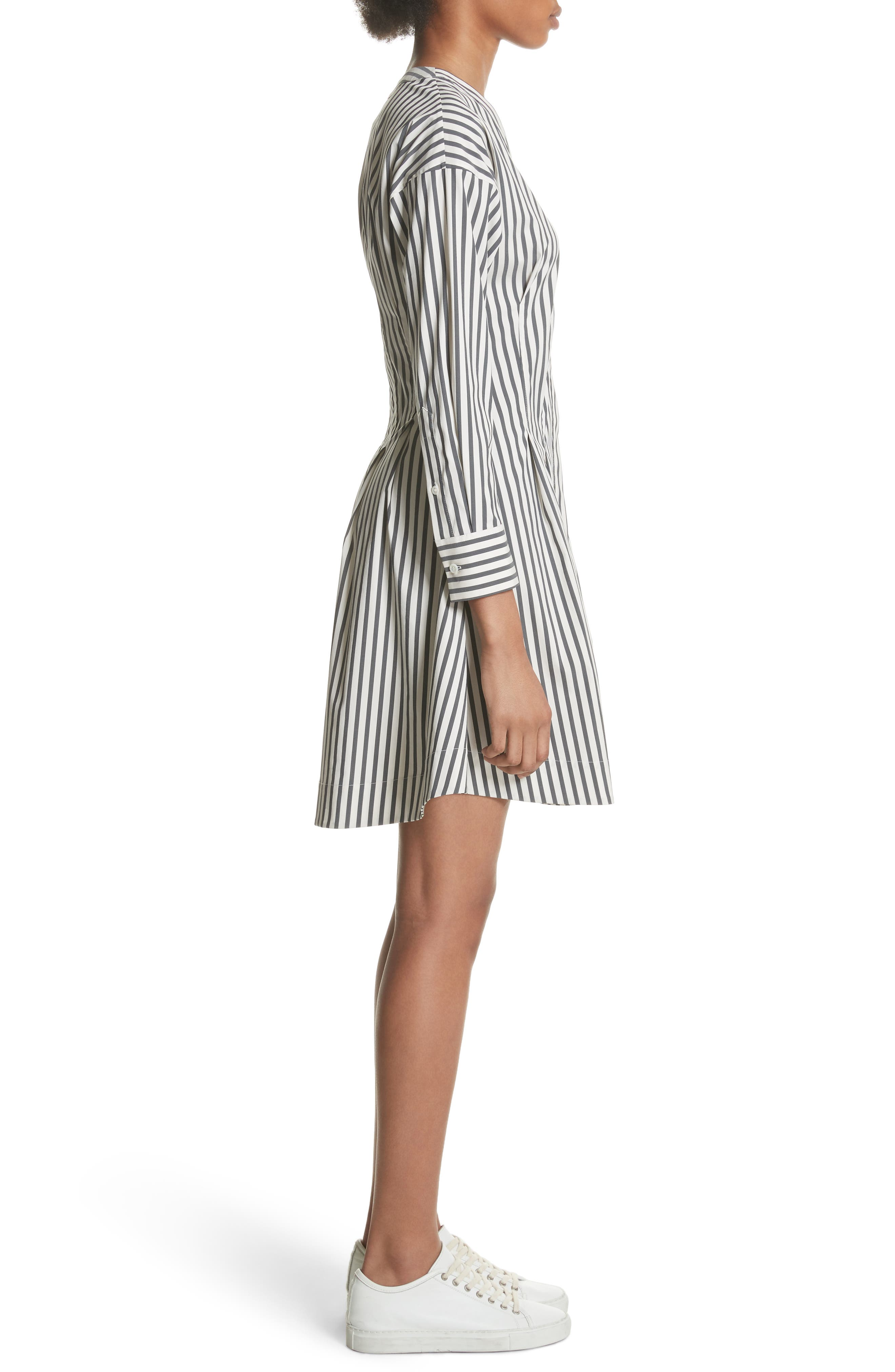 Stripe Shirtdress,                             Alternate thumbnail 3, color,