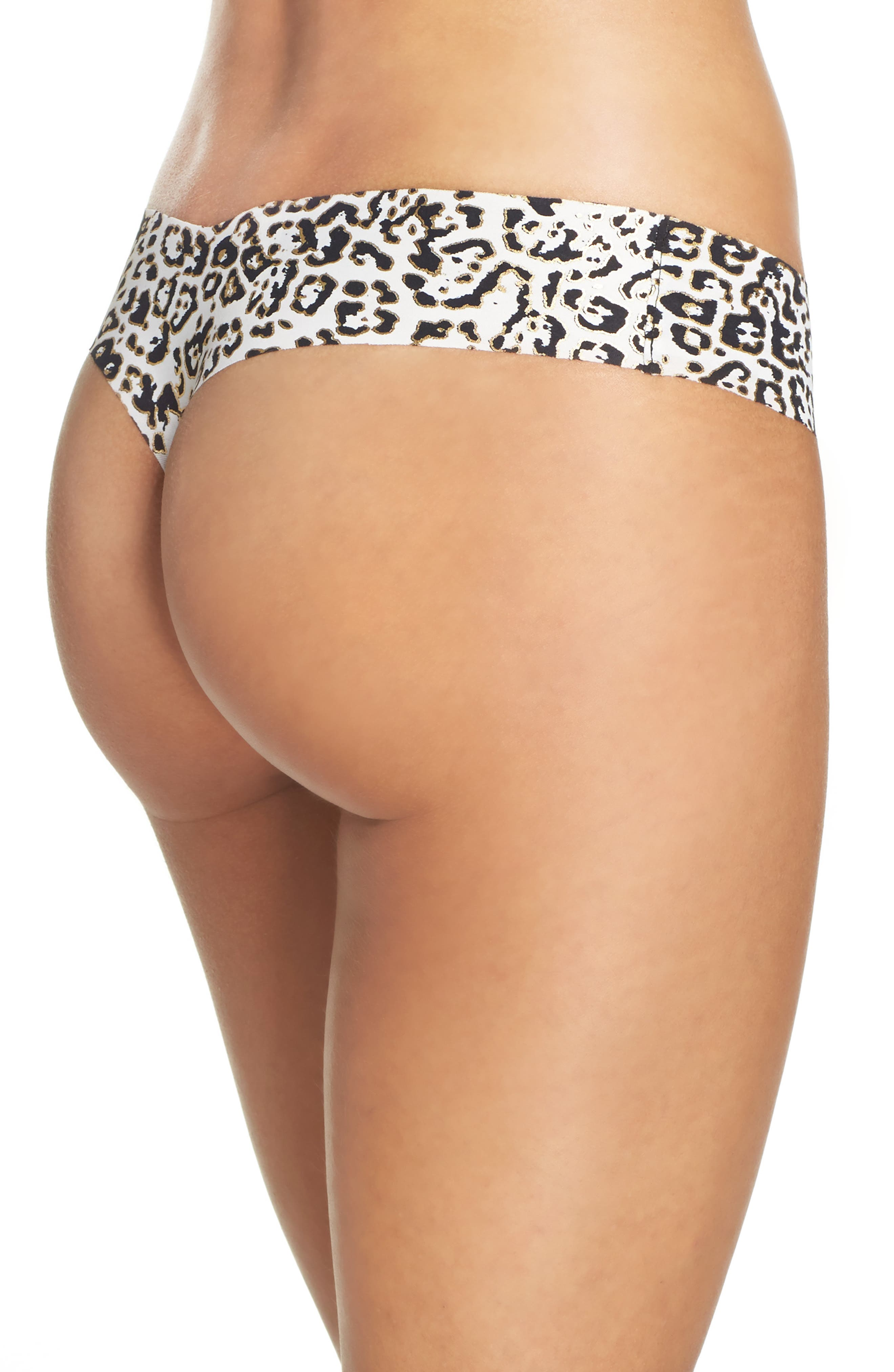 Print Microfiber Thong,                             Alternate thumbnail 258, color,