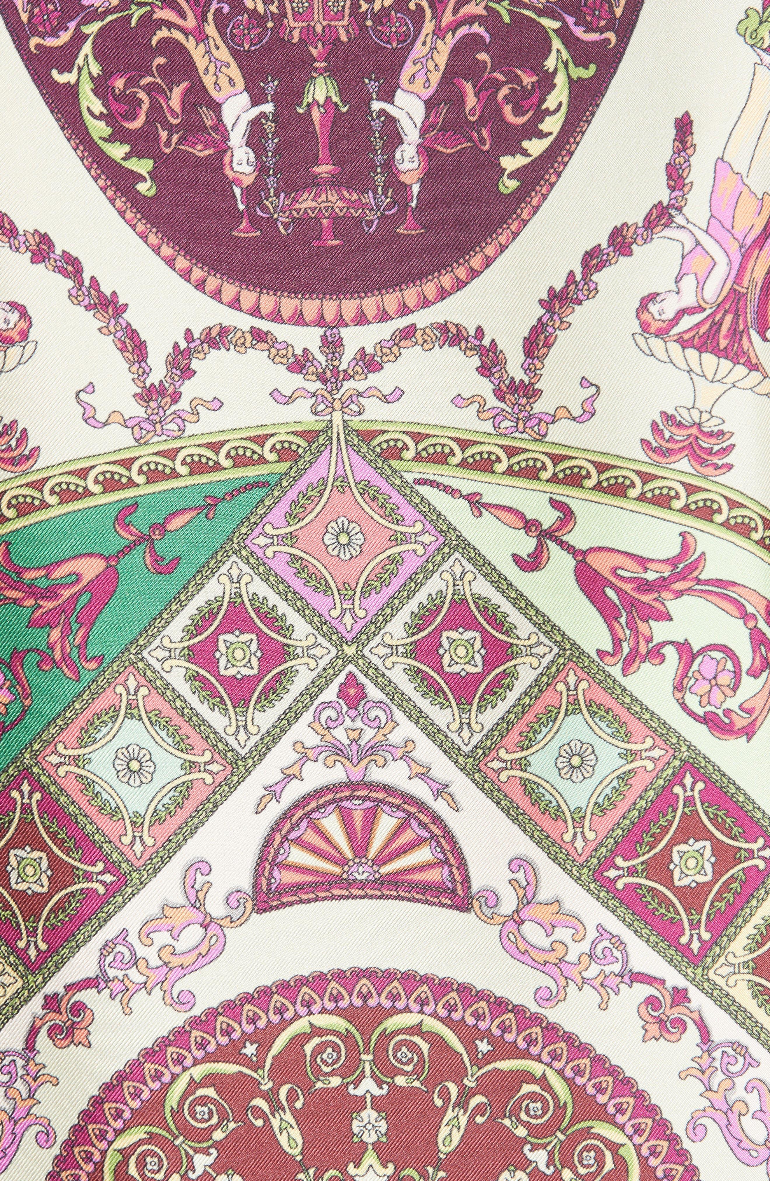 Paisley Print Silk Blouse,                             Alternate thumbnail 5, color,                             RED