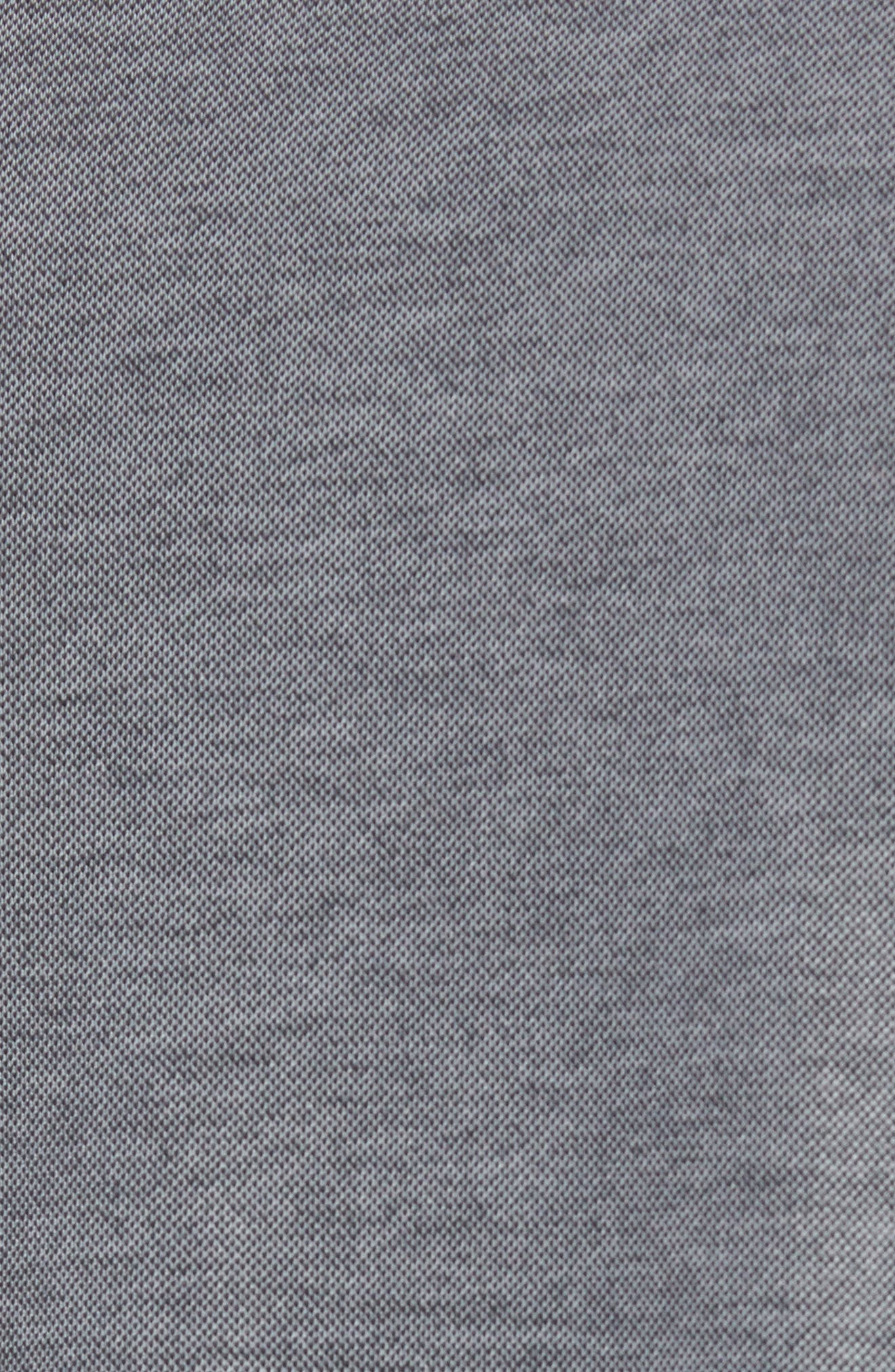 Kay Regular Fit Long Sleeve Polo Shirt,                             Alternate thumbnail 5, color,                             HEATHER CASTLEROCK