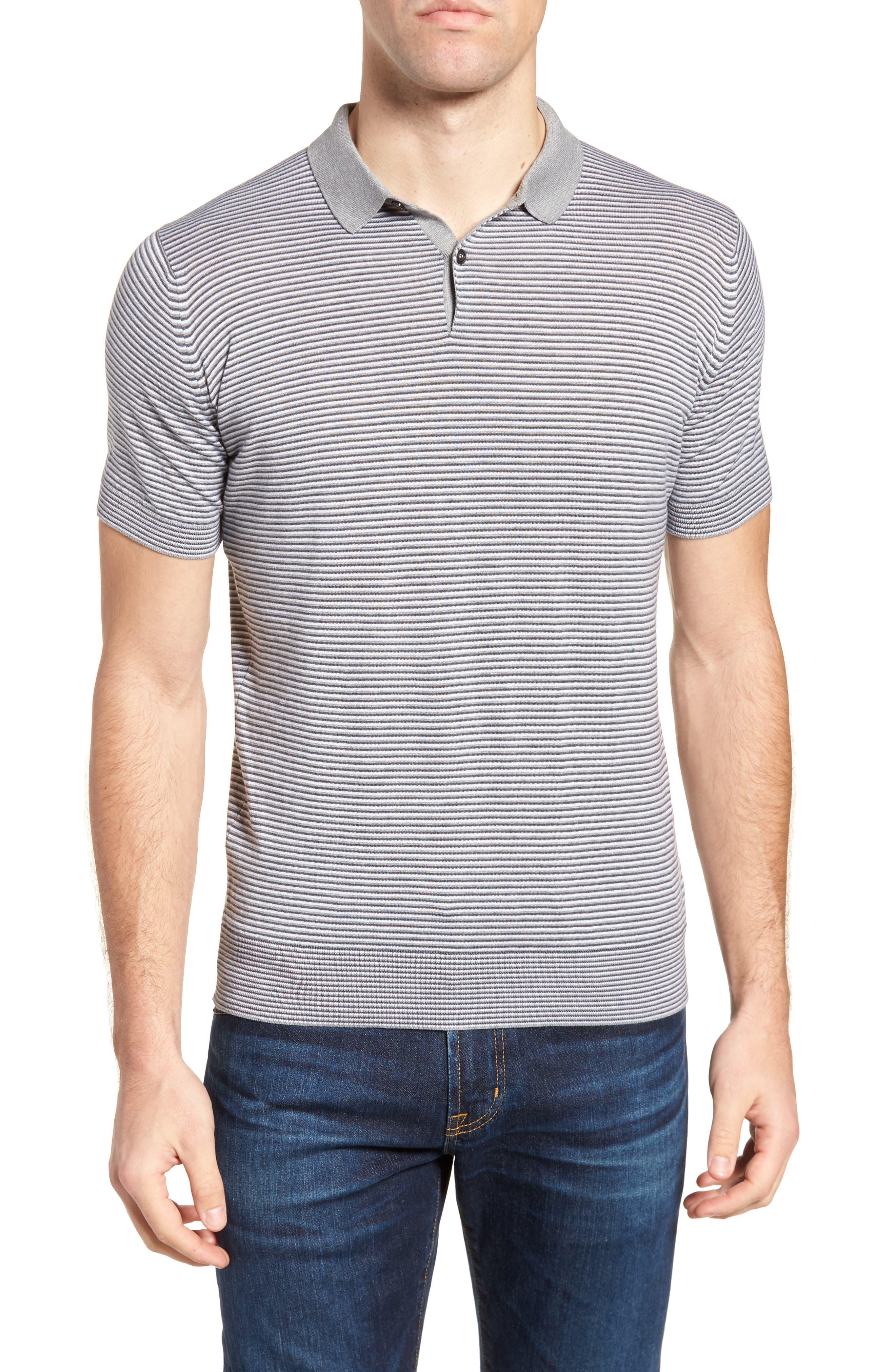 Stripe Jersey Polo,                         Main,                         color, 020