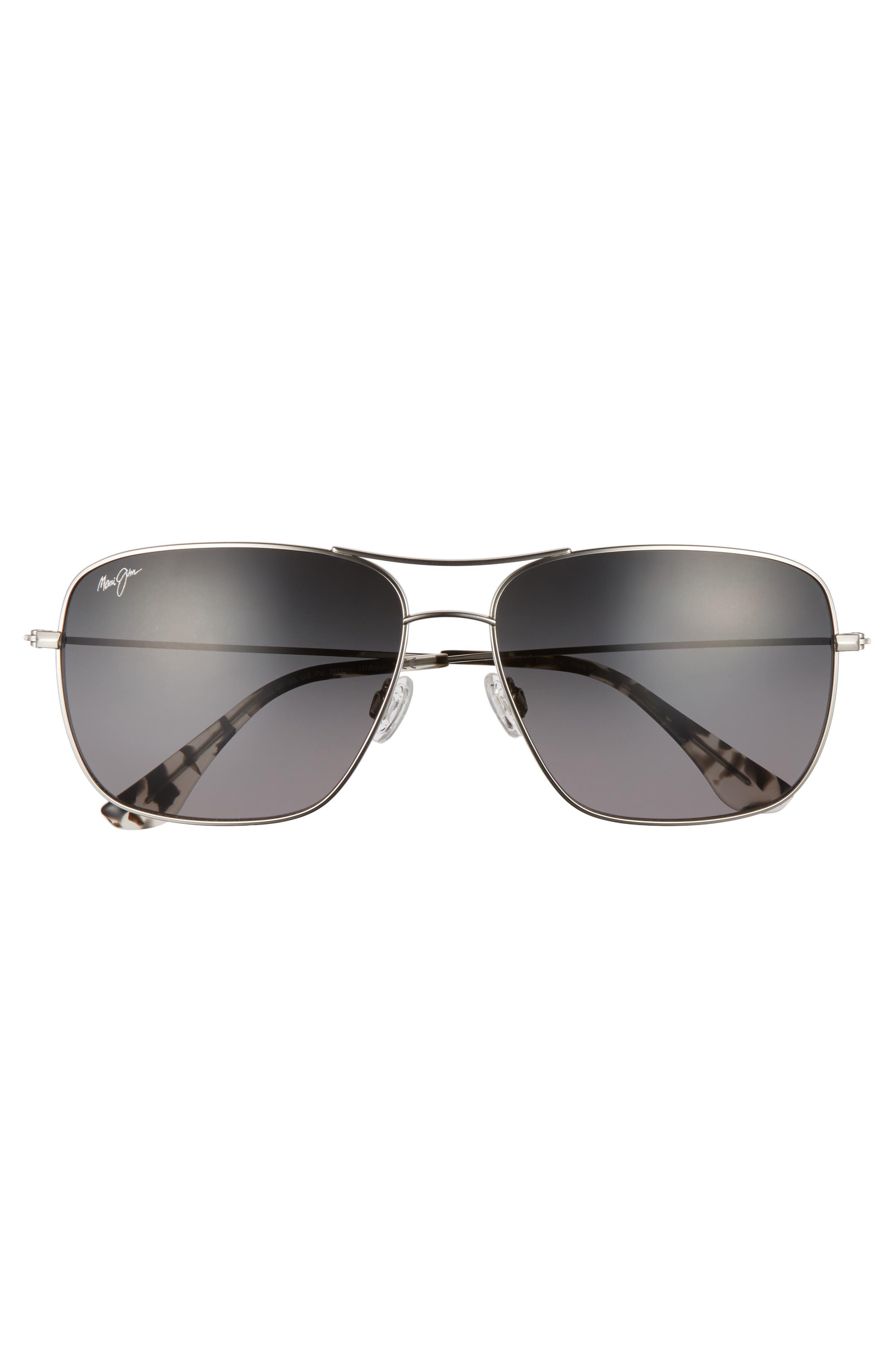 Cook Pines 63mm Polarized Titanium Aviator Sunglasses,                             Alternate thumbnail 10, color,