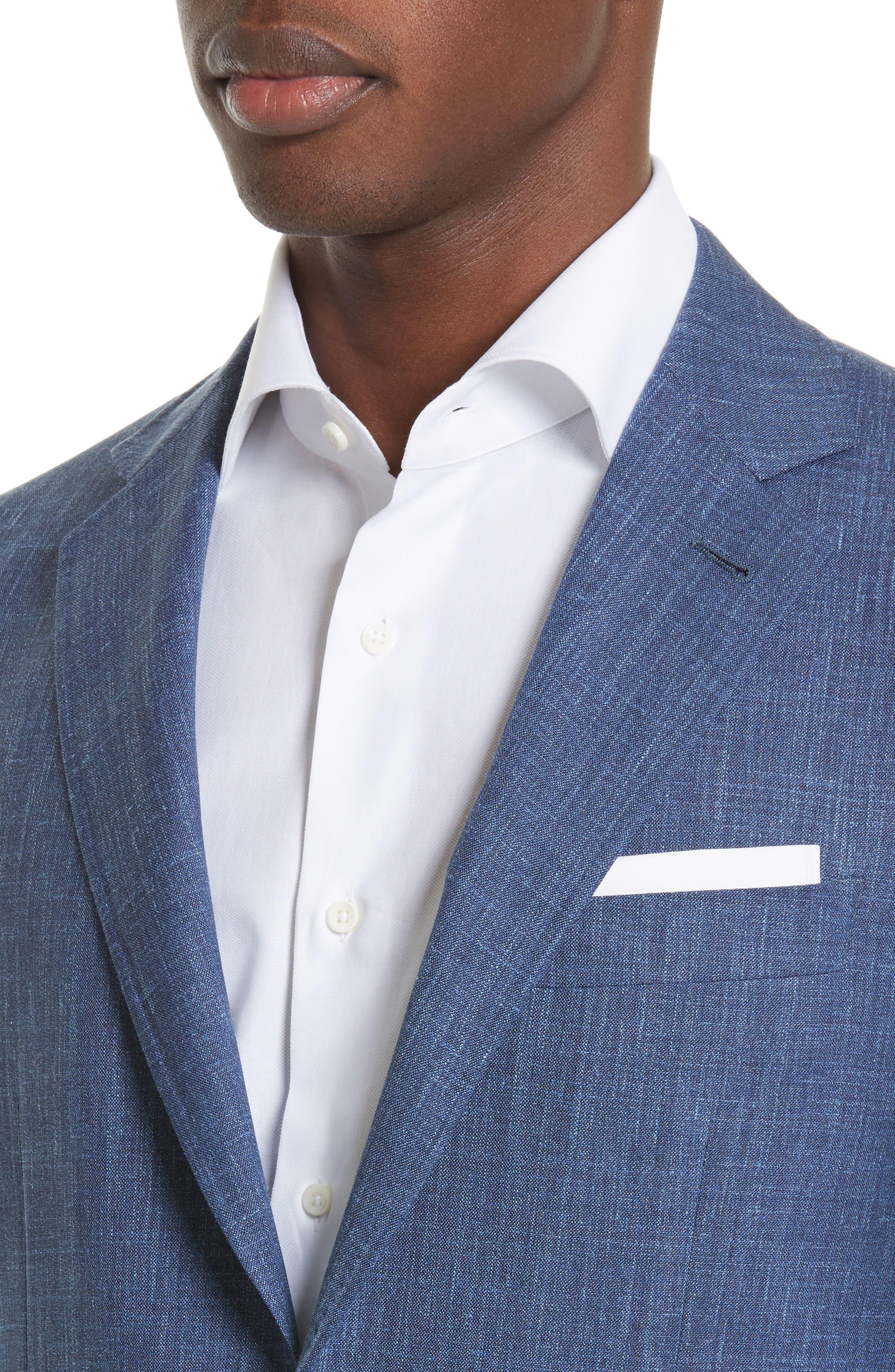 Kei Classic Fit Wool Blend Blazer,                             Alternate thumbnail 4, color,                             400