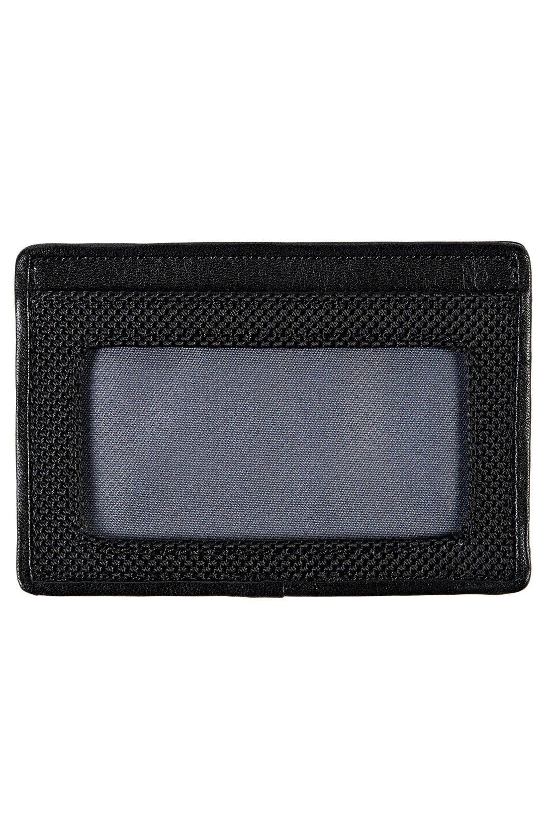 Alpha Slim Card Case,                             Alternate thumbnail 2, color,                             BLACK