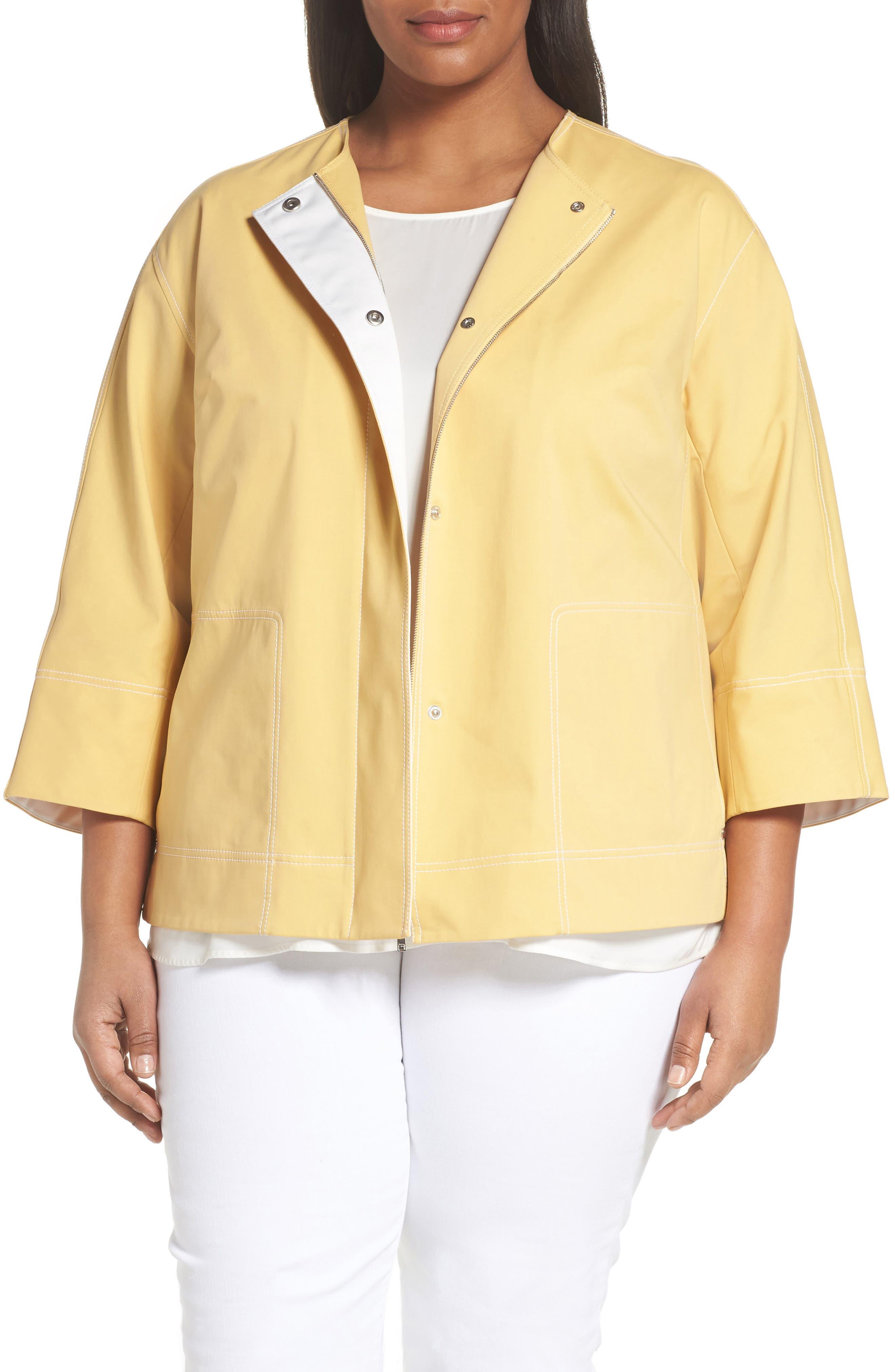 Milo Zip Jacket,                         Main,                         color, SIENNA YELLOW