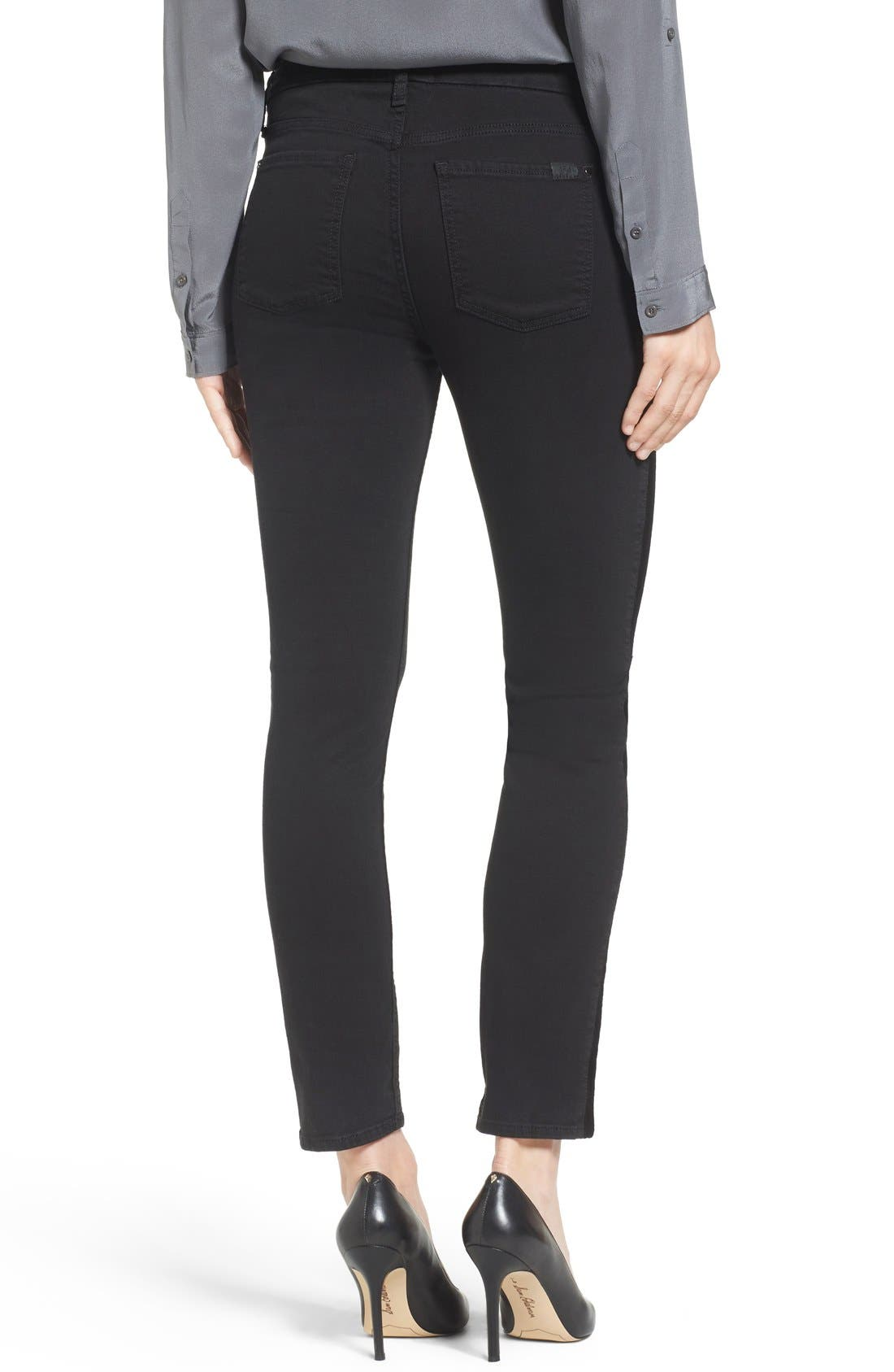 Tuxedo Stripe Skinny Jeans,                             Alternate thumbnail 3, color,                             004
