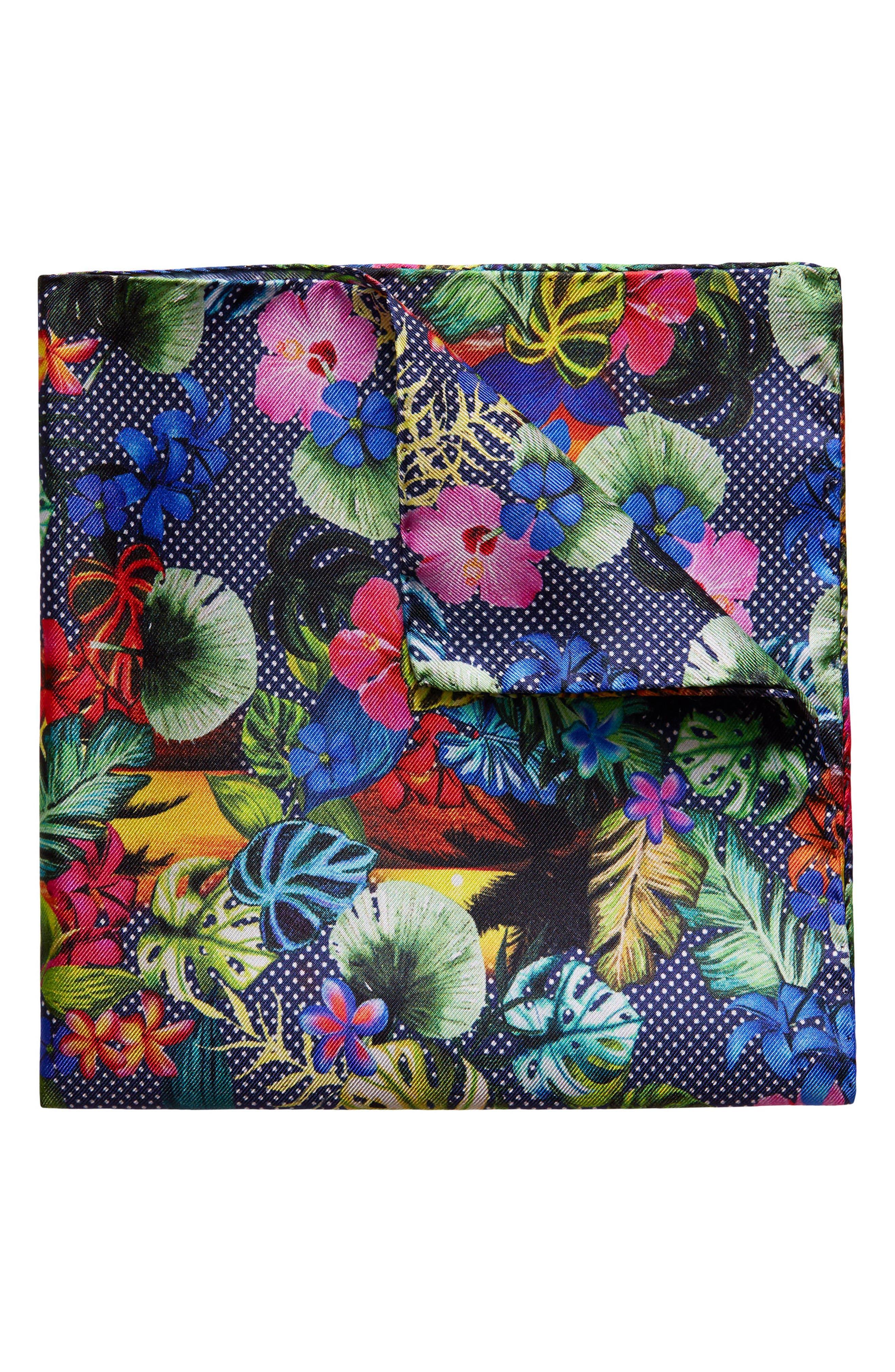 Print Silk Pocket Square,                             Main thumbnail 1, color,                             001