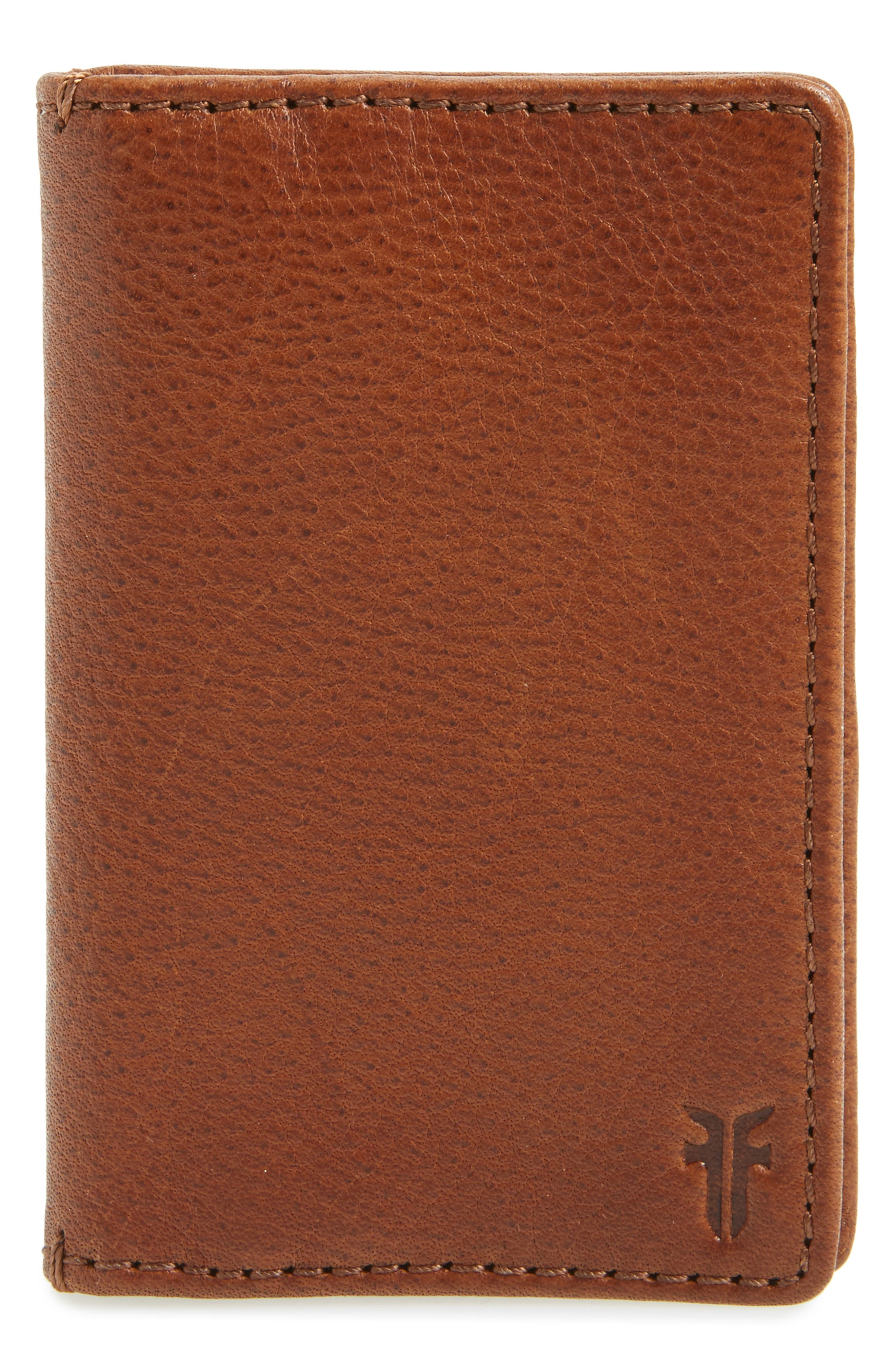 Oliver Leather Wallet,                         Main,                         color, COGNAC