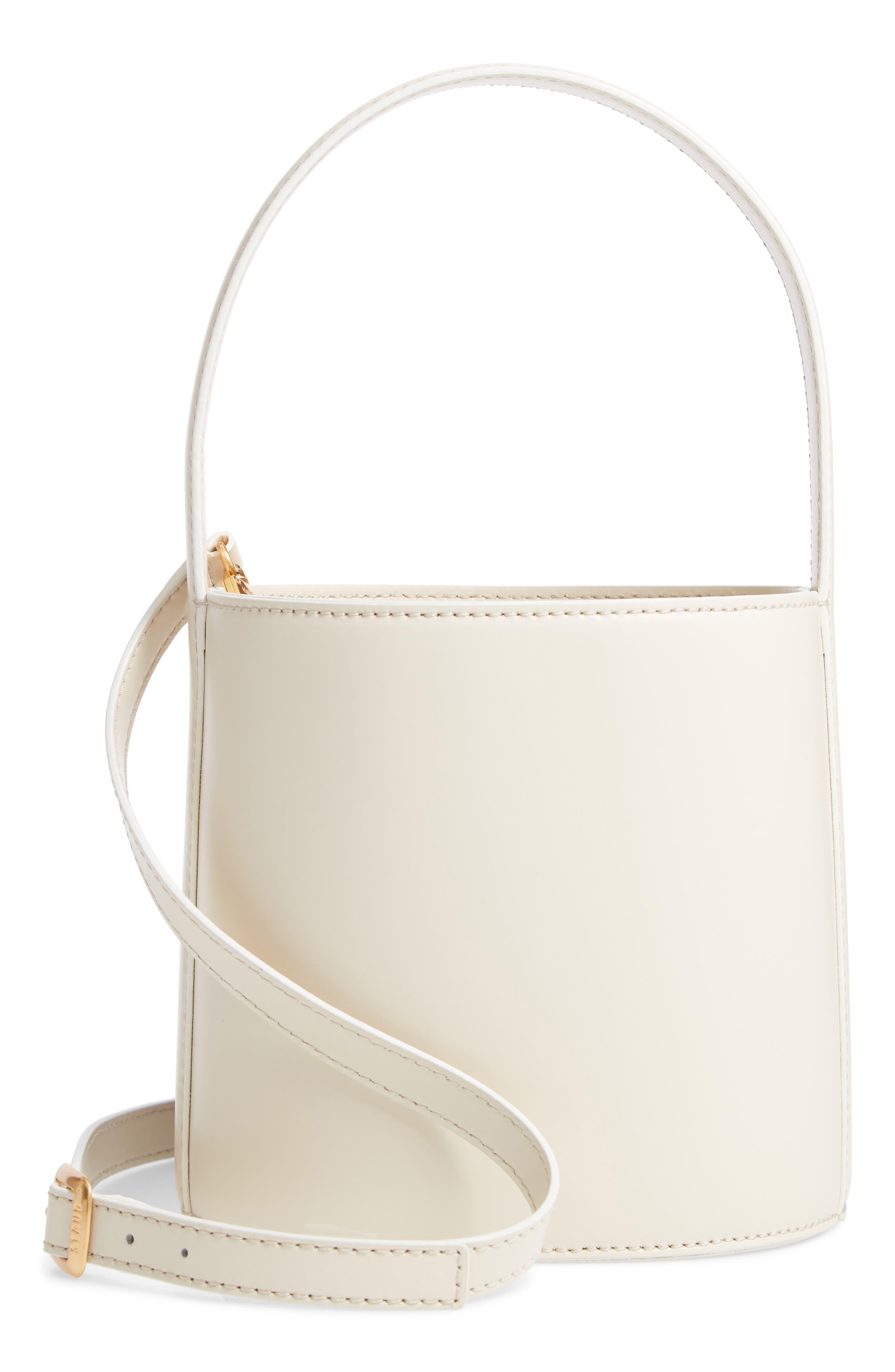 Bissett Leather Bucket Bag - Ivory in Cream