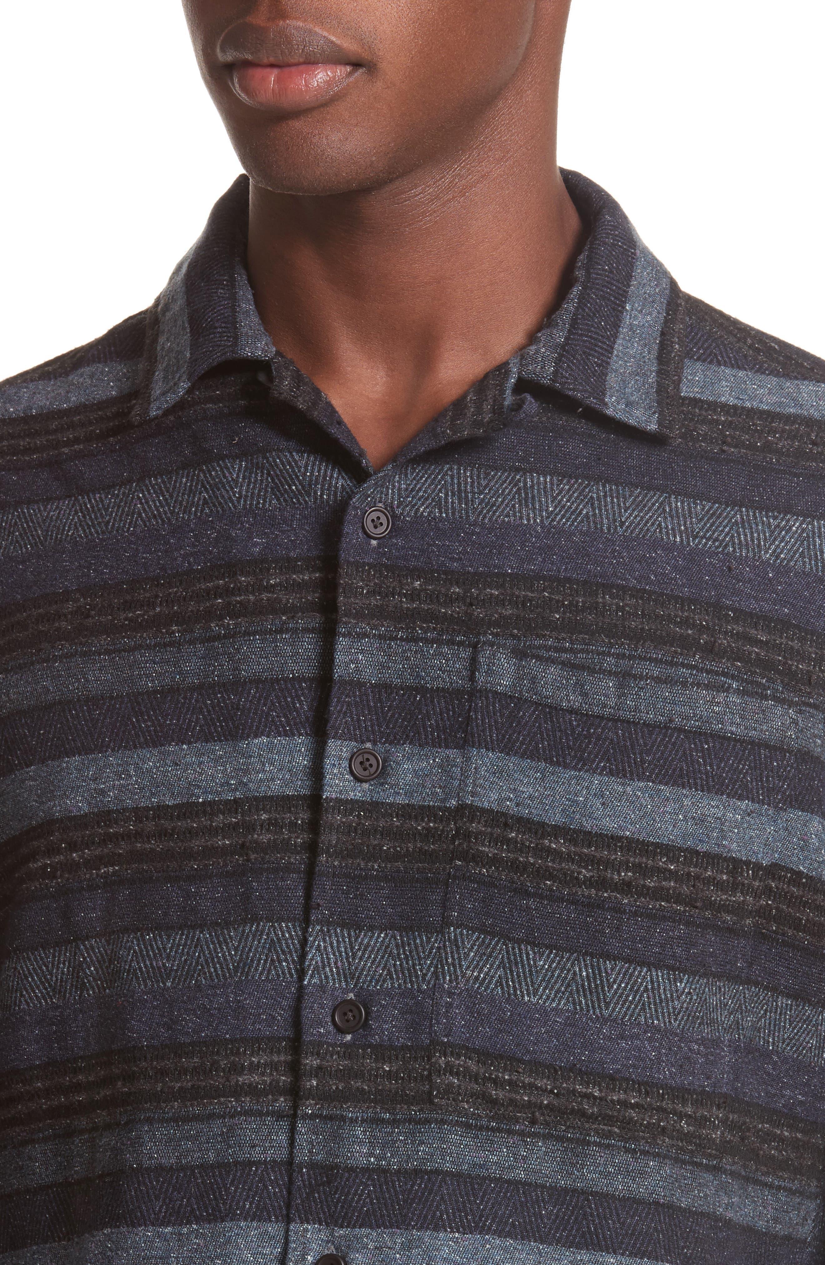 Napoli Mix Stripe Shirt,                             Alternate thumbnail 4, color,                             461
