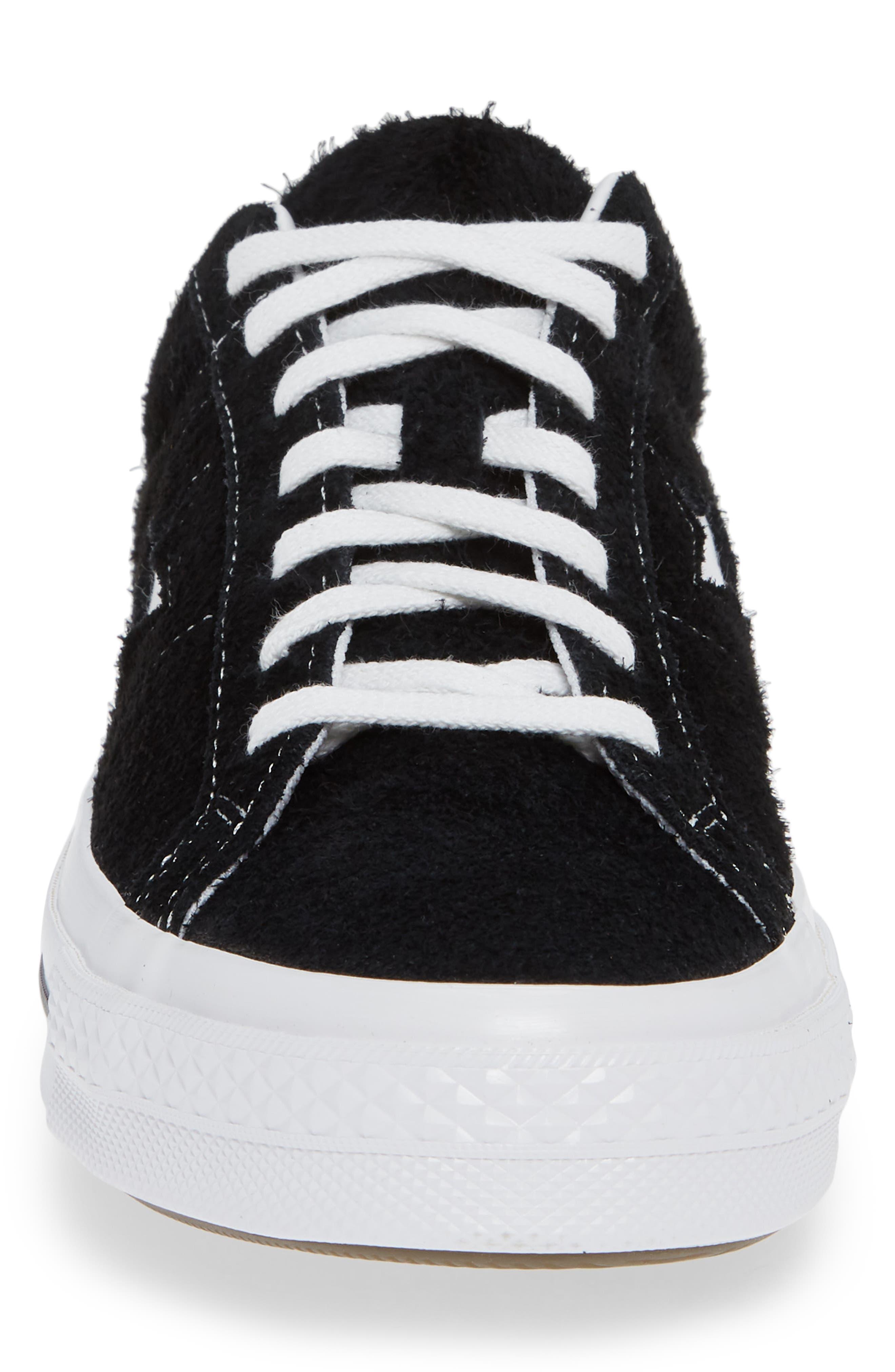One Star Low Top Sneaker,                             Alternate thumbnail 4, color,                             MASON TEXTILE