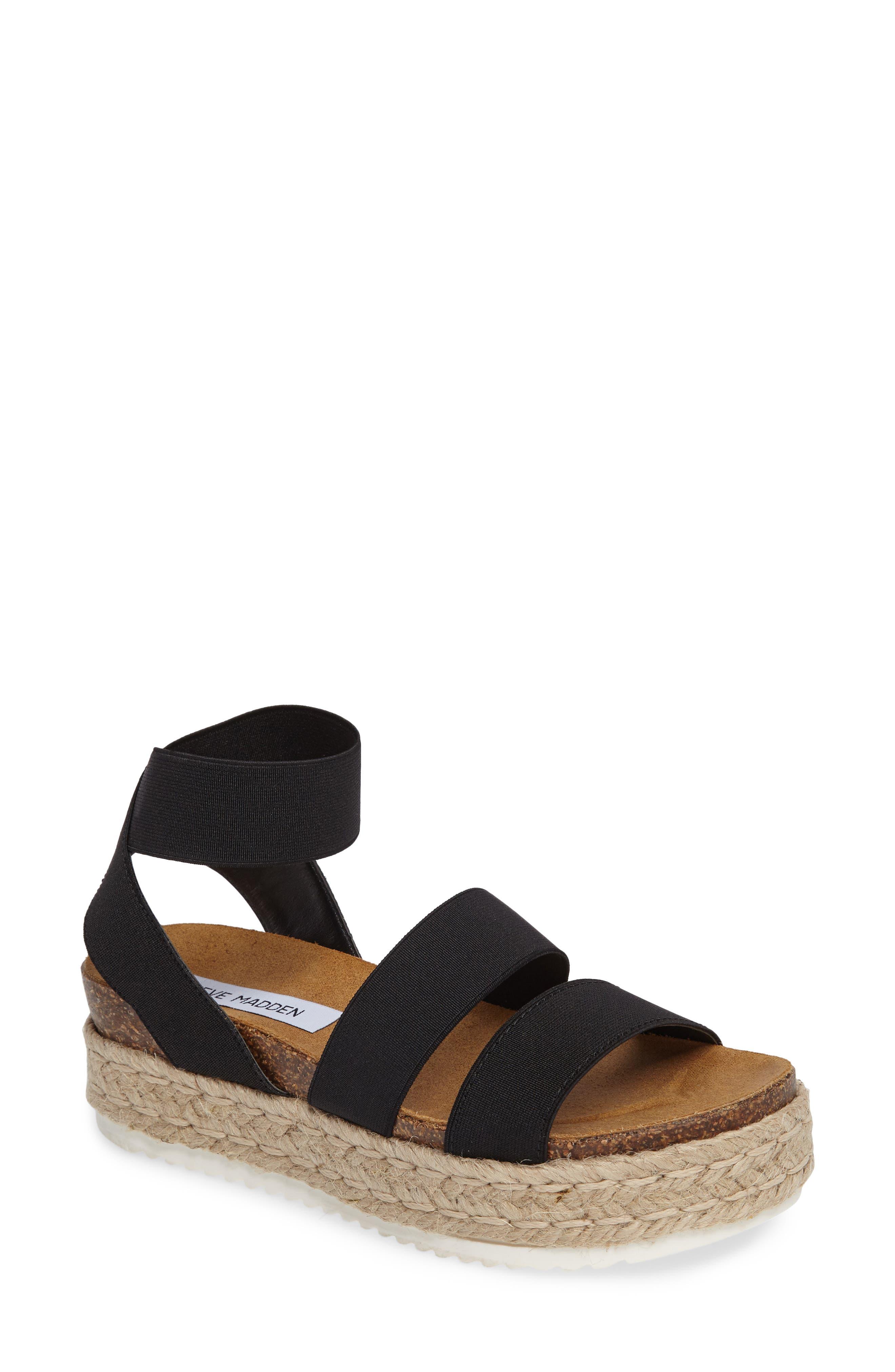Kimmie Flatform Sandal,                             Main thumbnail 1, color,                             001