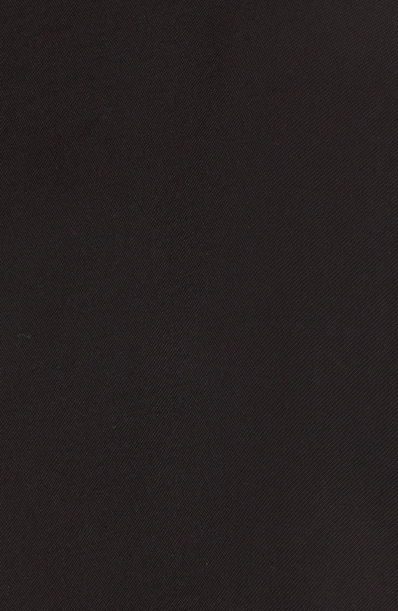 Tie Waist Crop Jumpsuit,                             Alternate thumbnail 5, color,                             001