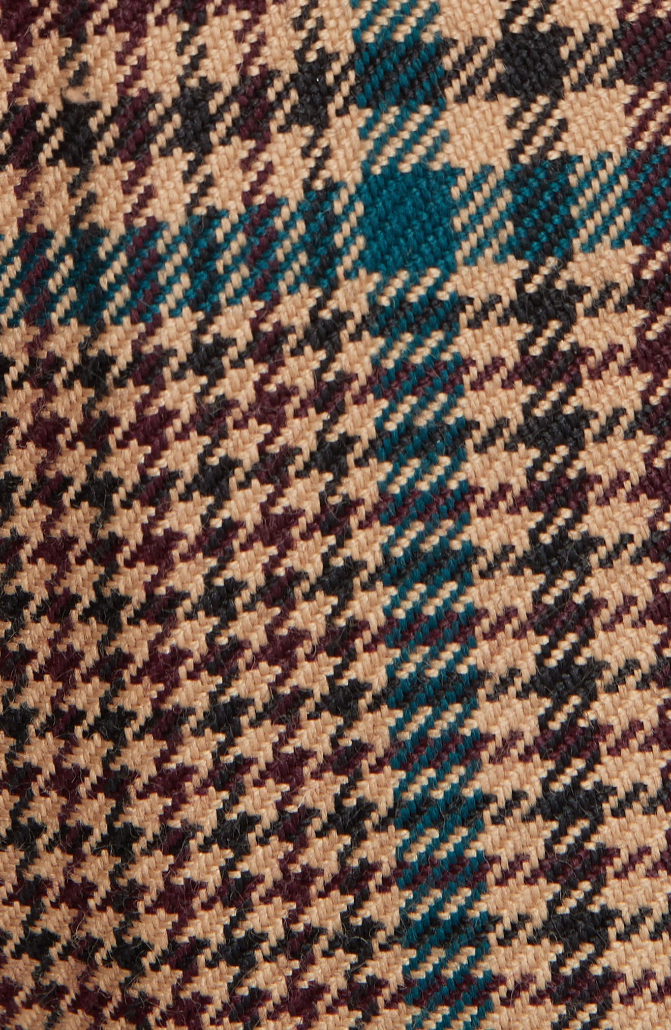 Cormac Plaid Wool Blend Trousers,                             Alternate thumbnail 5, color,                             230